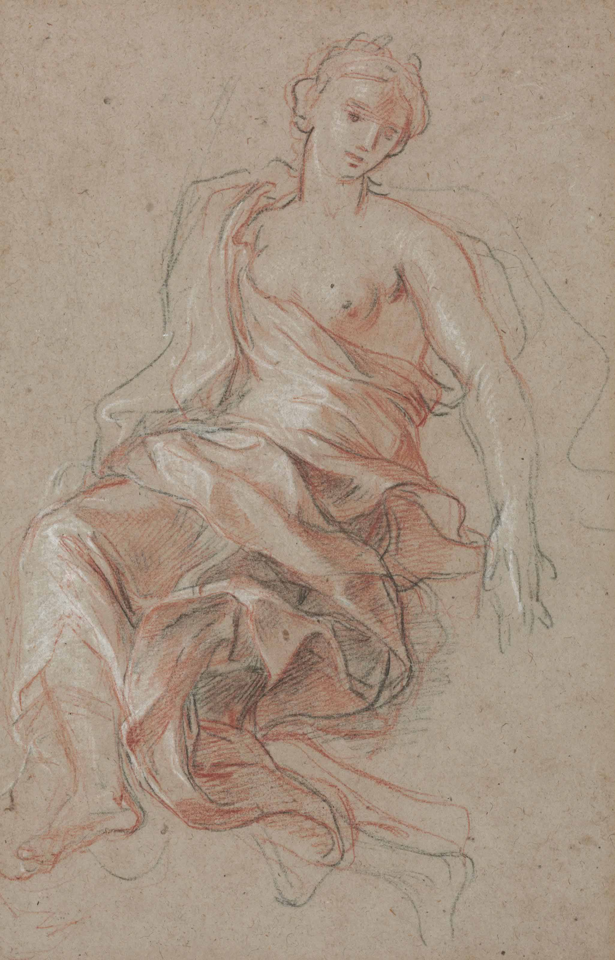 A draped female figure (study for L'Abondance)