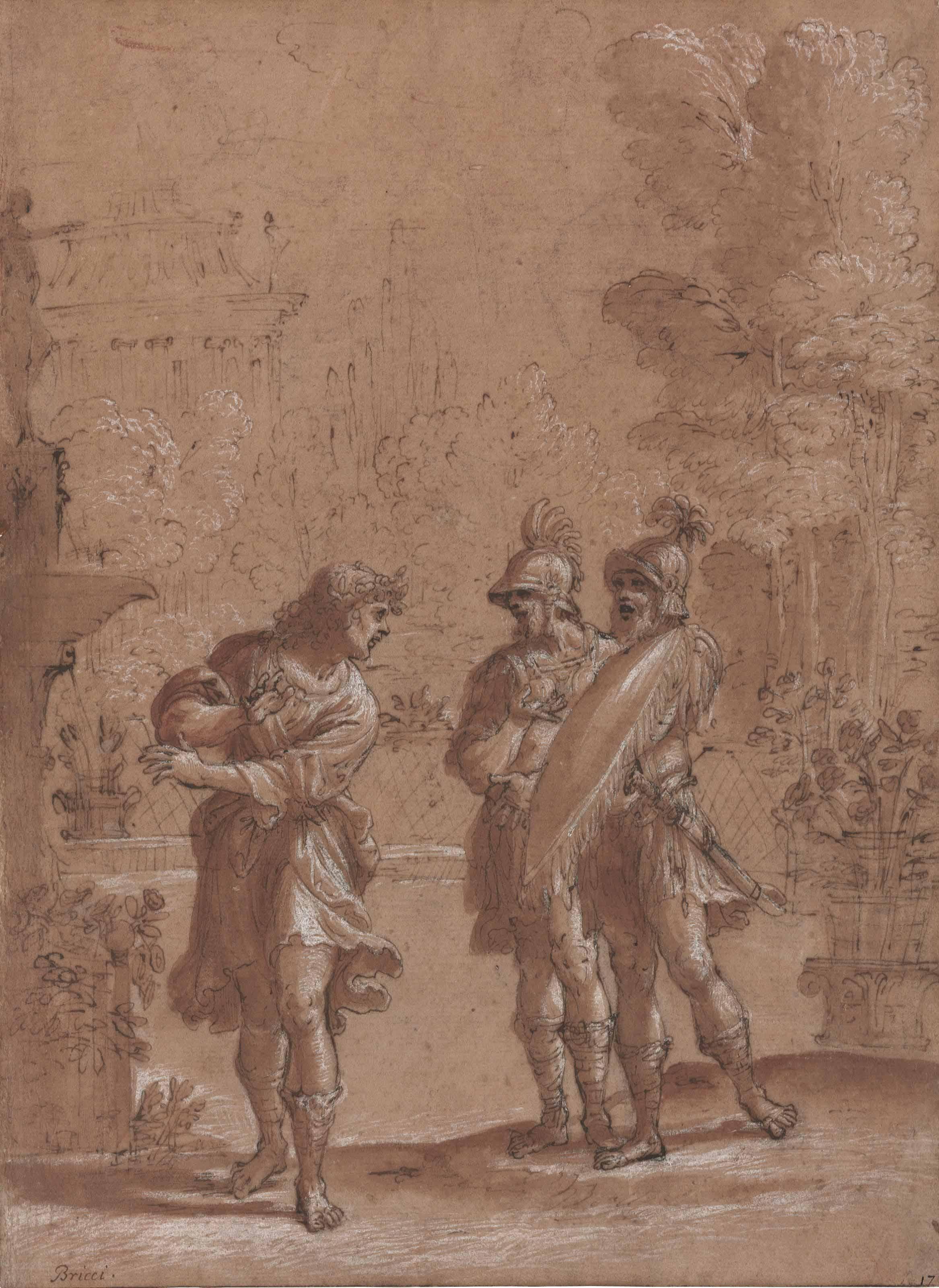 Carlo and Ubaldo in the enchanted garden of Armida