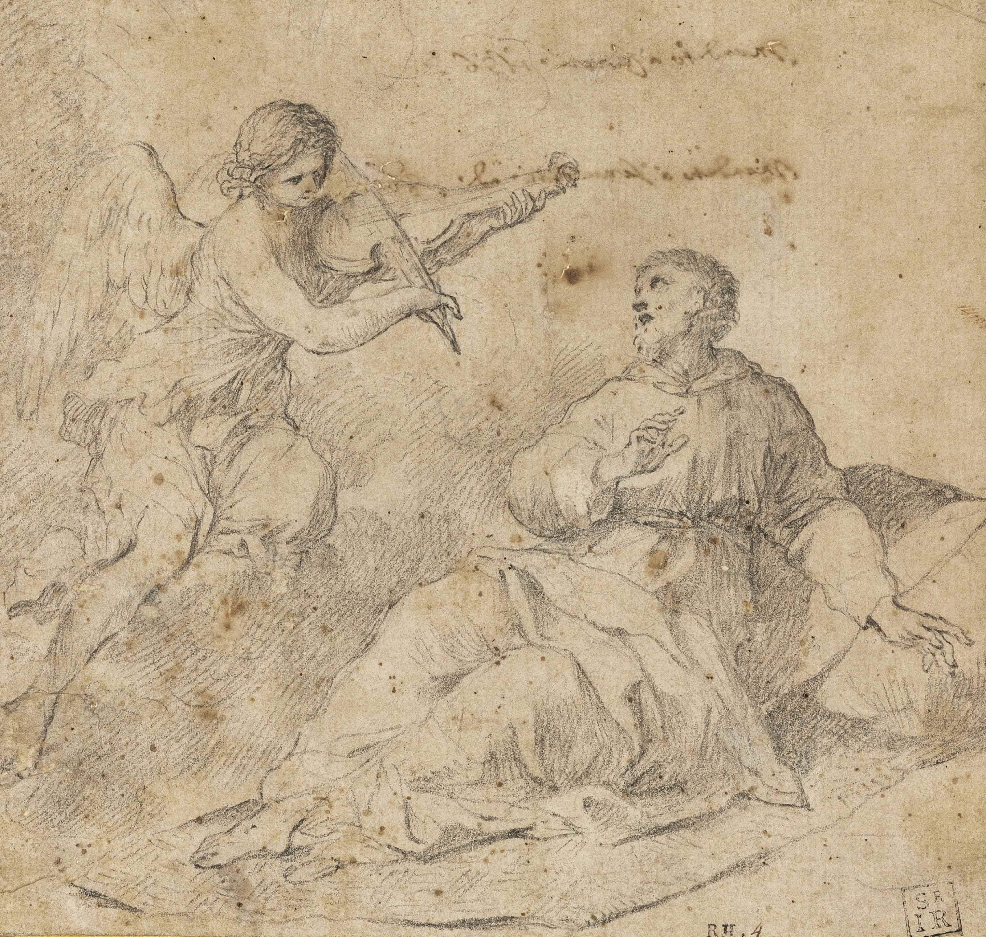 An angel violinist appearing to Saint Francis of Assisi