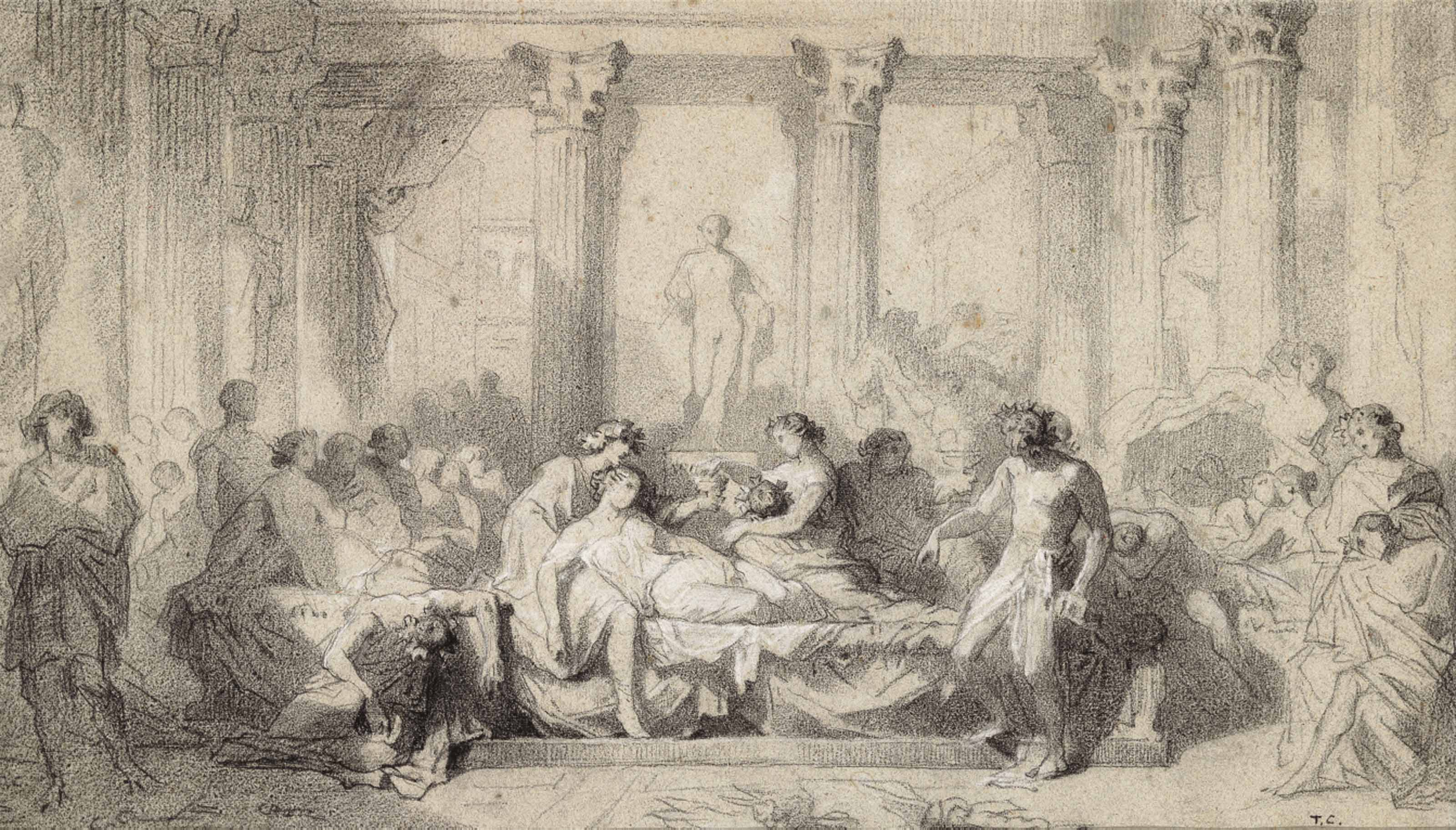 Study for 'The Decadence of the Romans'