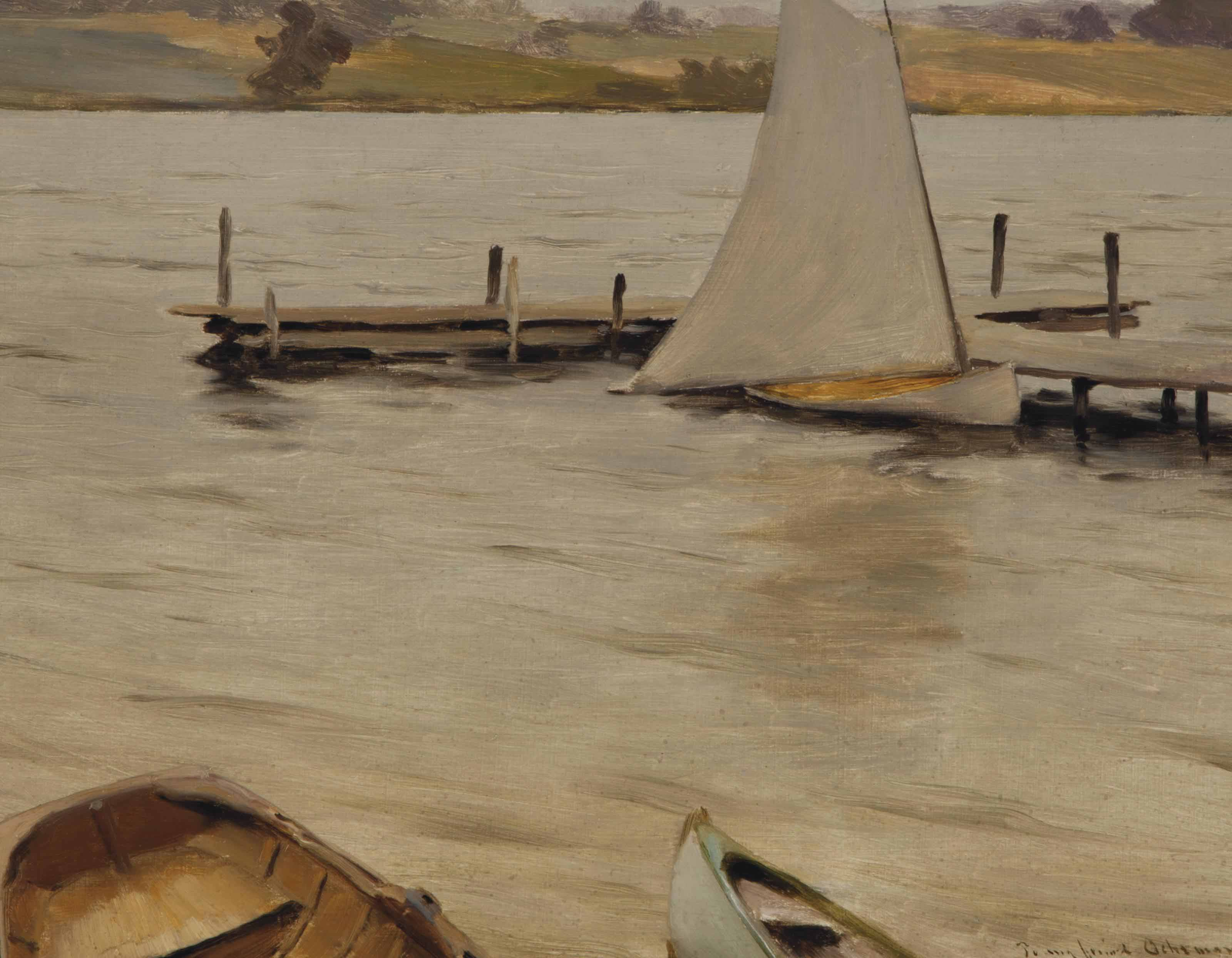 Boats Along the Shore, Silver Lake, New York
