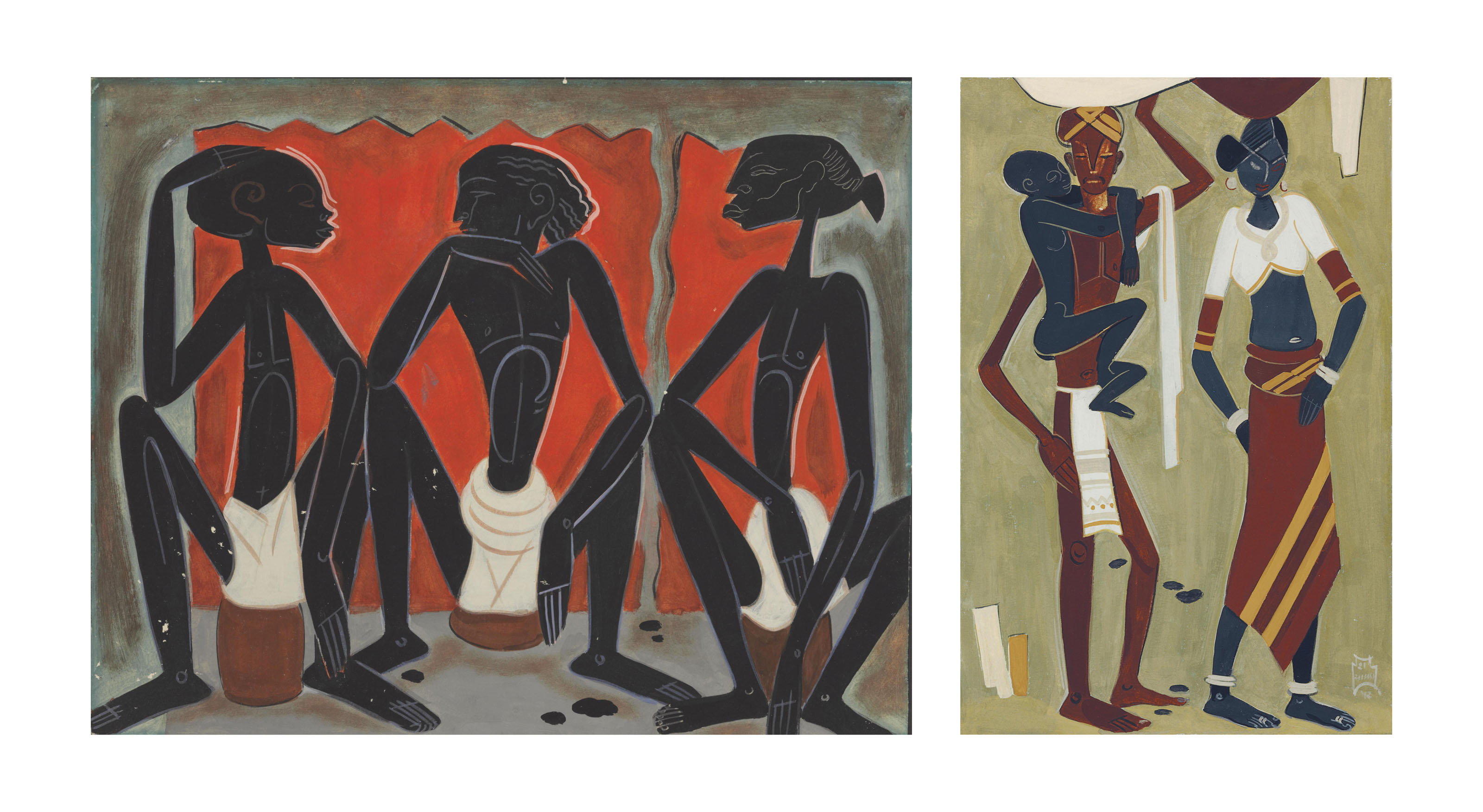 Untitled (Three Tribal Men); Toddy Booth