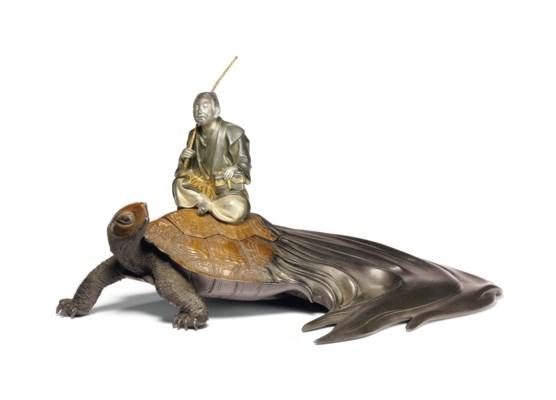 A patinated bronze ornament (o
