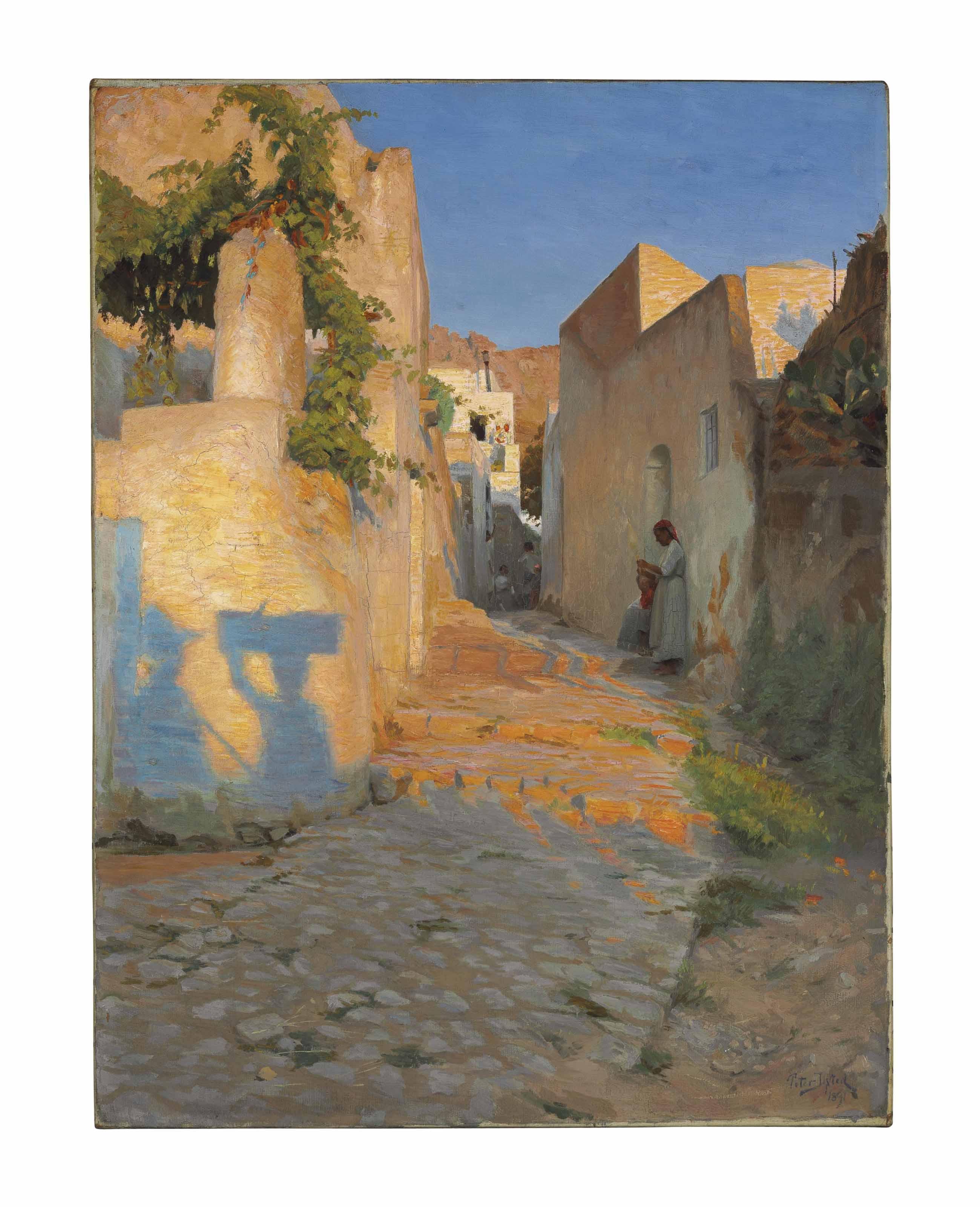 A Street Scene in Tunisia