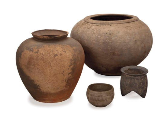 A GROUP OF CHINESE INCISED POT