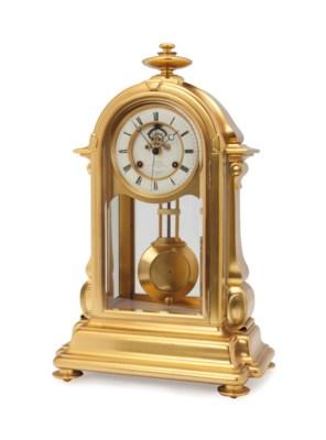 A GILT-BRONZE MANTLE CLOCK,