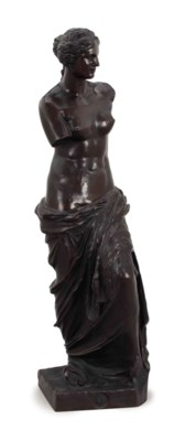 A FRENCH PATINATED BRONZE STAT