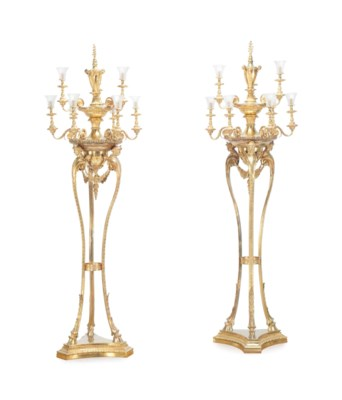 A PAIR OF FRENCH GILT METAL NI