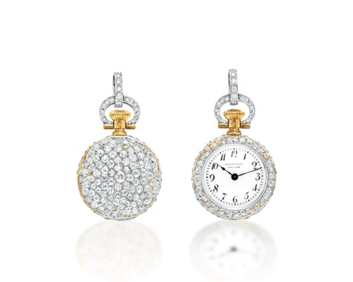 A BELLE ÉPOQUE DIAMOND POCKETWATCH, BY TIFFANY & CO