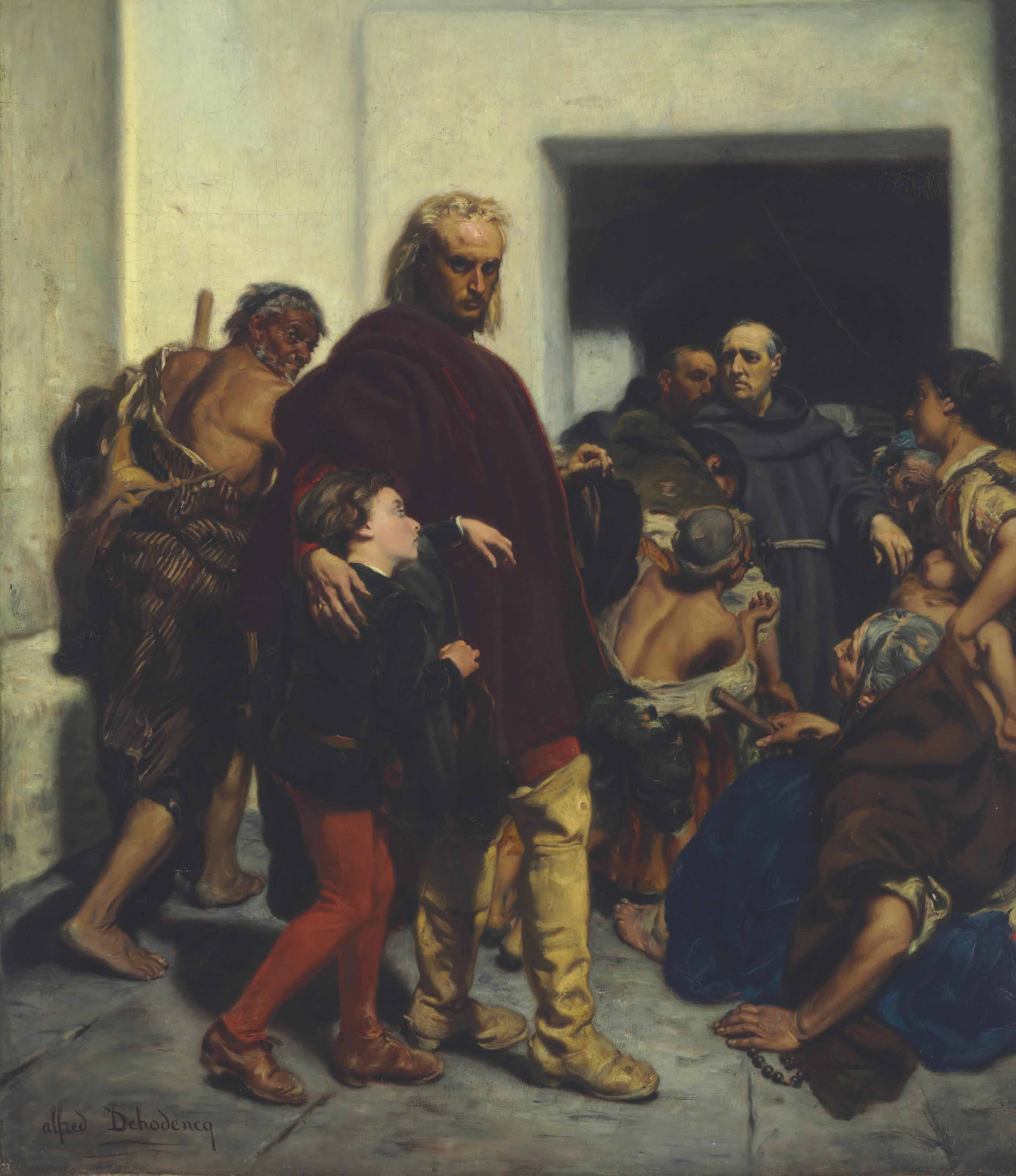 Christopher Columbus at the Monastery of Rabida