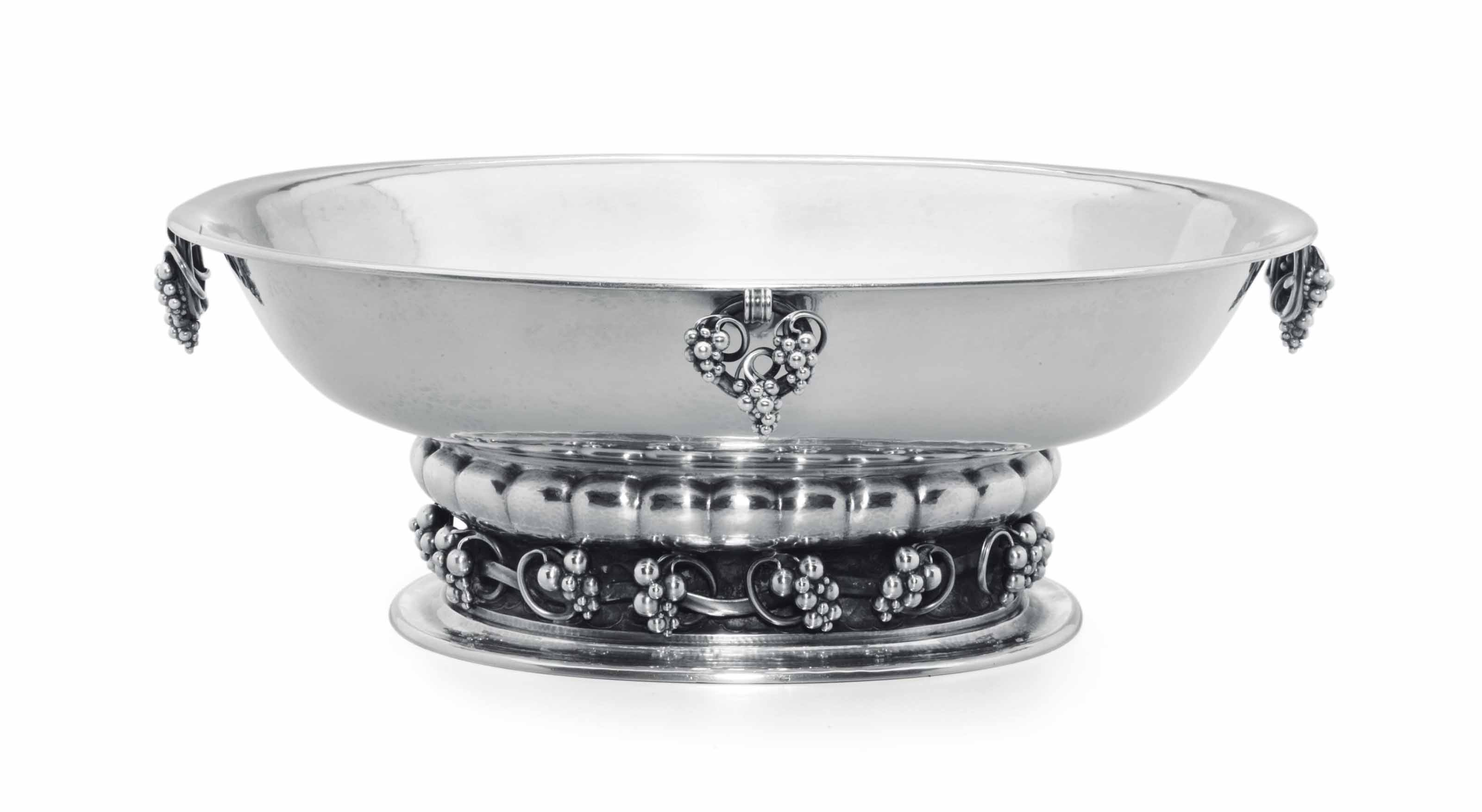 A DANISH SILVER CENTERPIECE BOWL, DESIGNED BY GEORG JENSEN