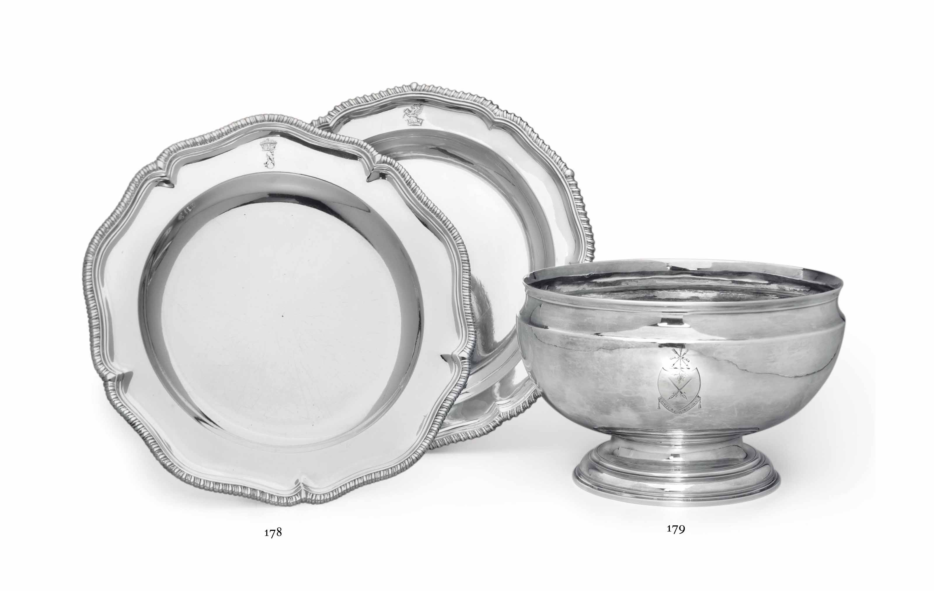 A GEORGE II SILVER PUNCH BOWL