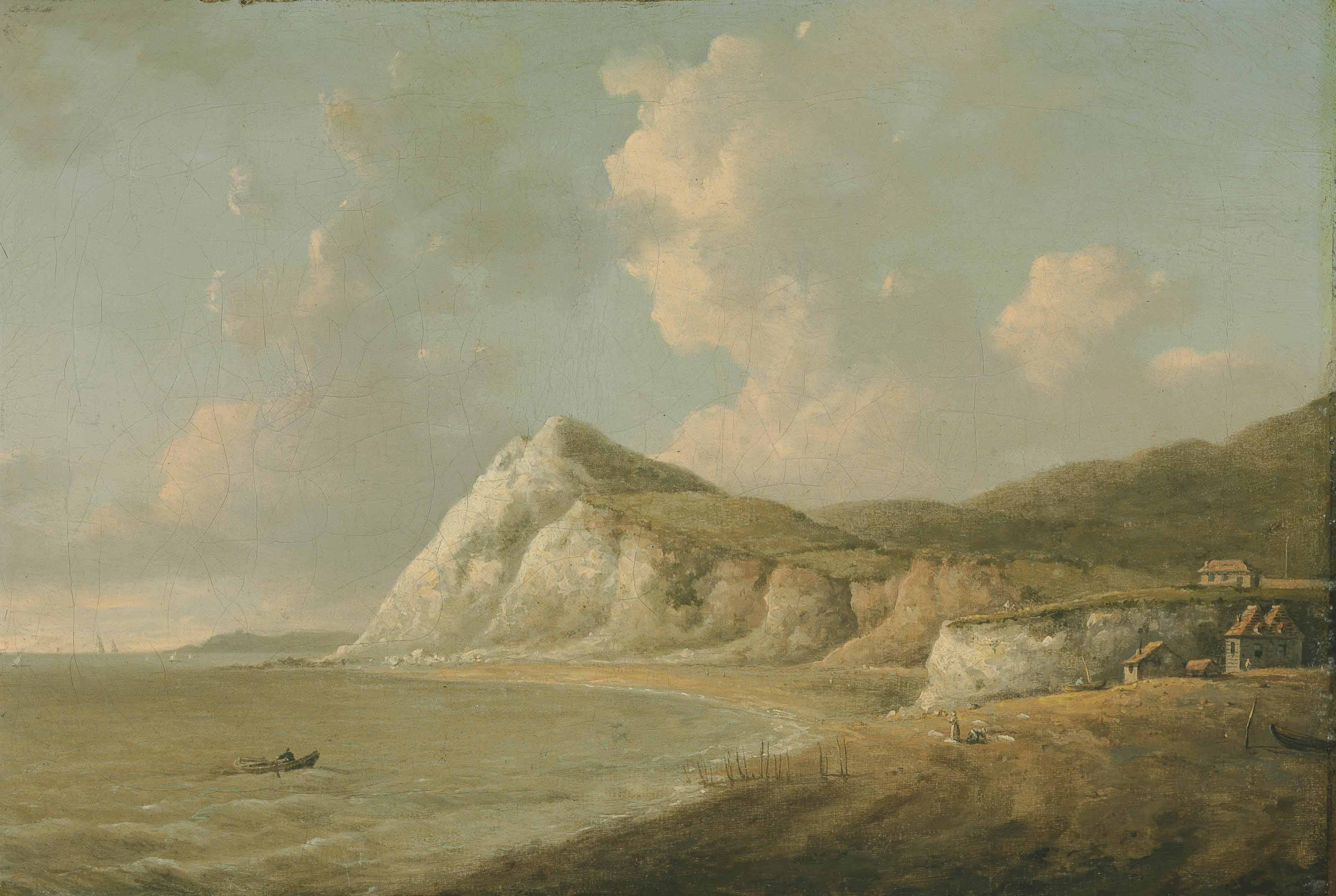 A view on the coast, probably St. Margaret's Bay, Kent