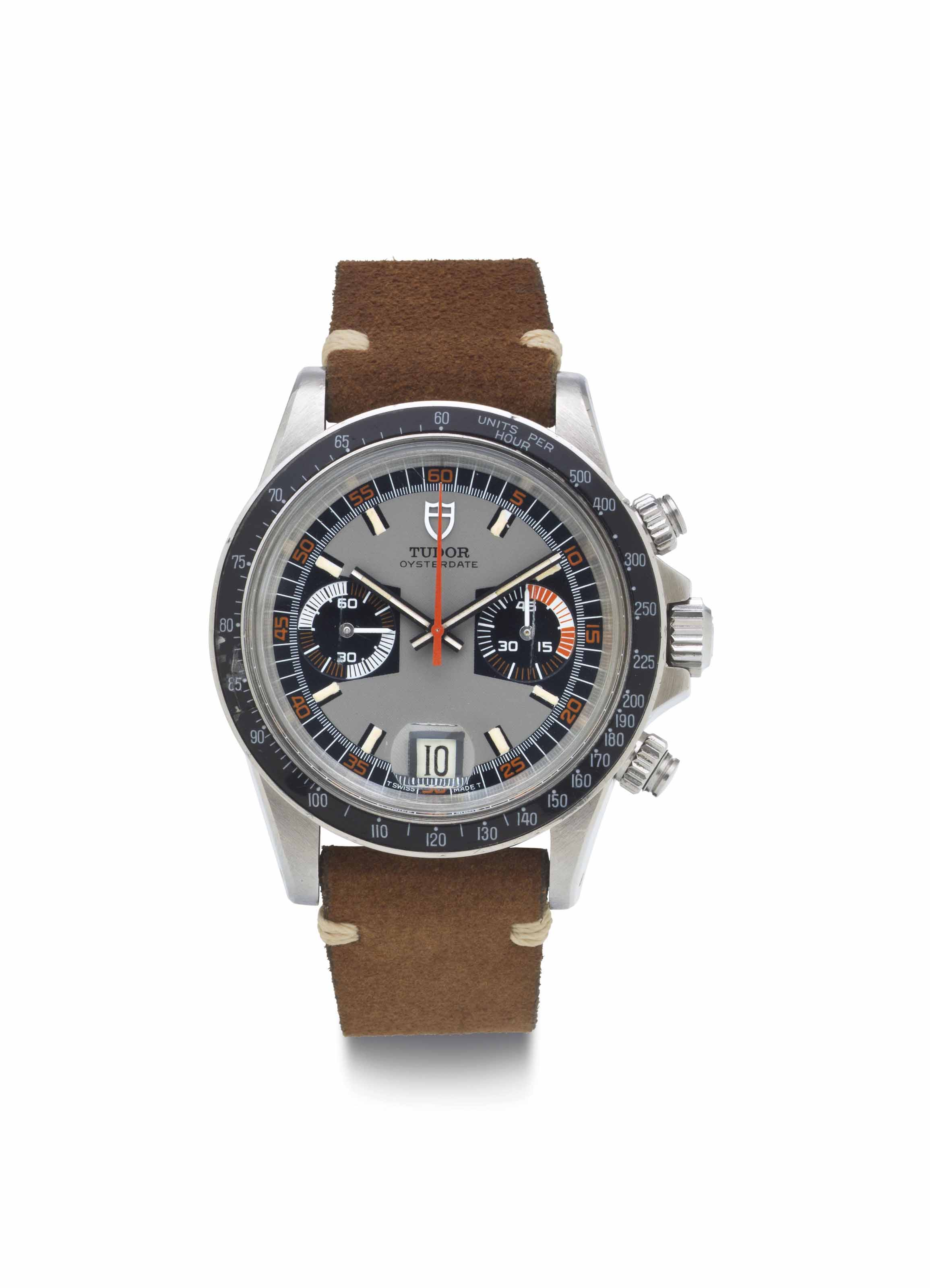 Tudor. A Fine Stainless Steel Chronograph Wristwatch with Date