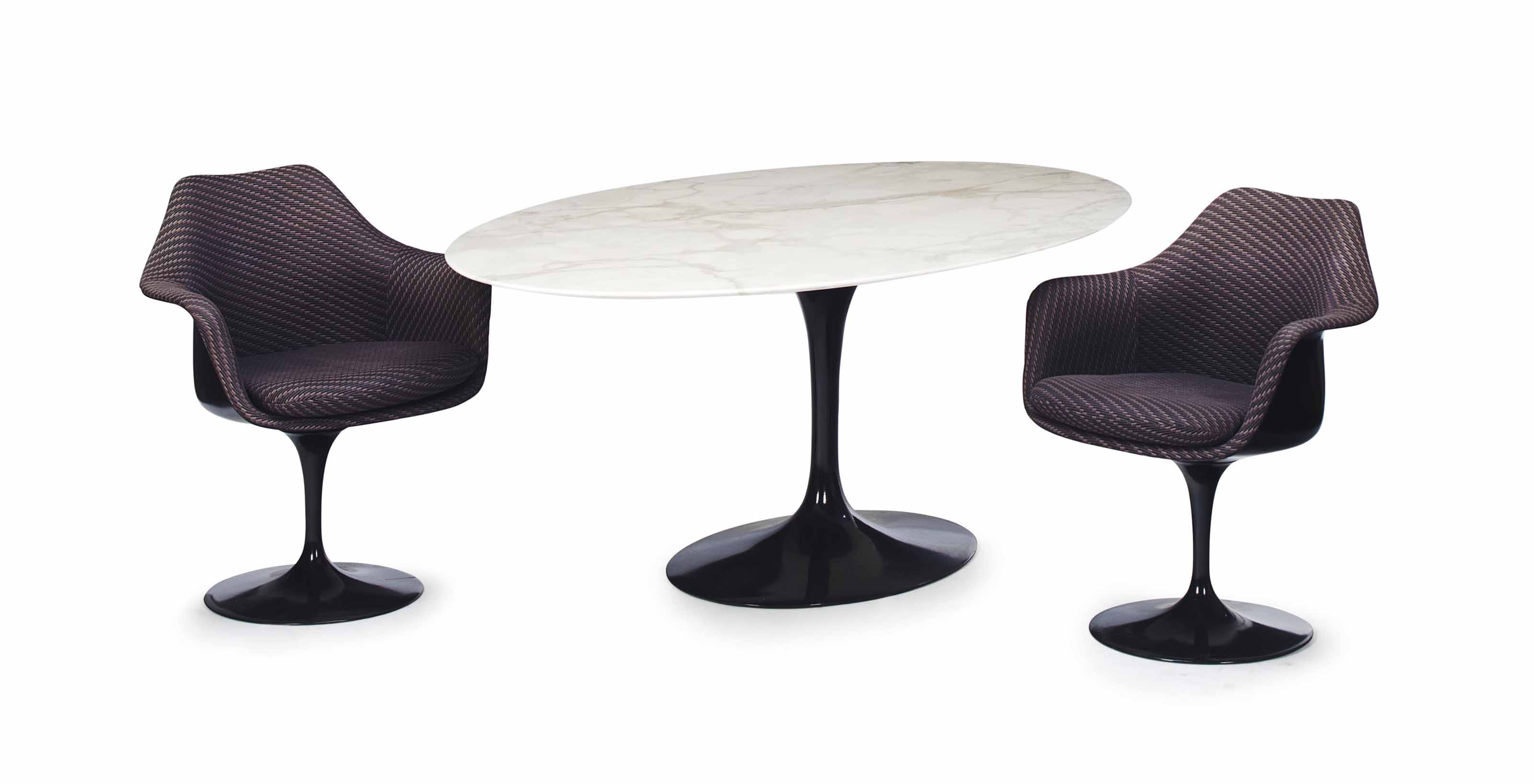 A 'TULIP' DINING TABLE,