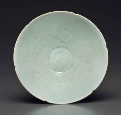 A QINGBAI CARVED DEEP CONICAL