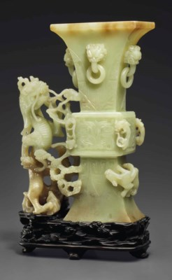A LARGE GREENISH-YELLOW JADE A