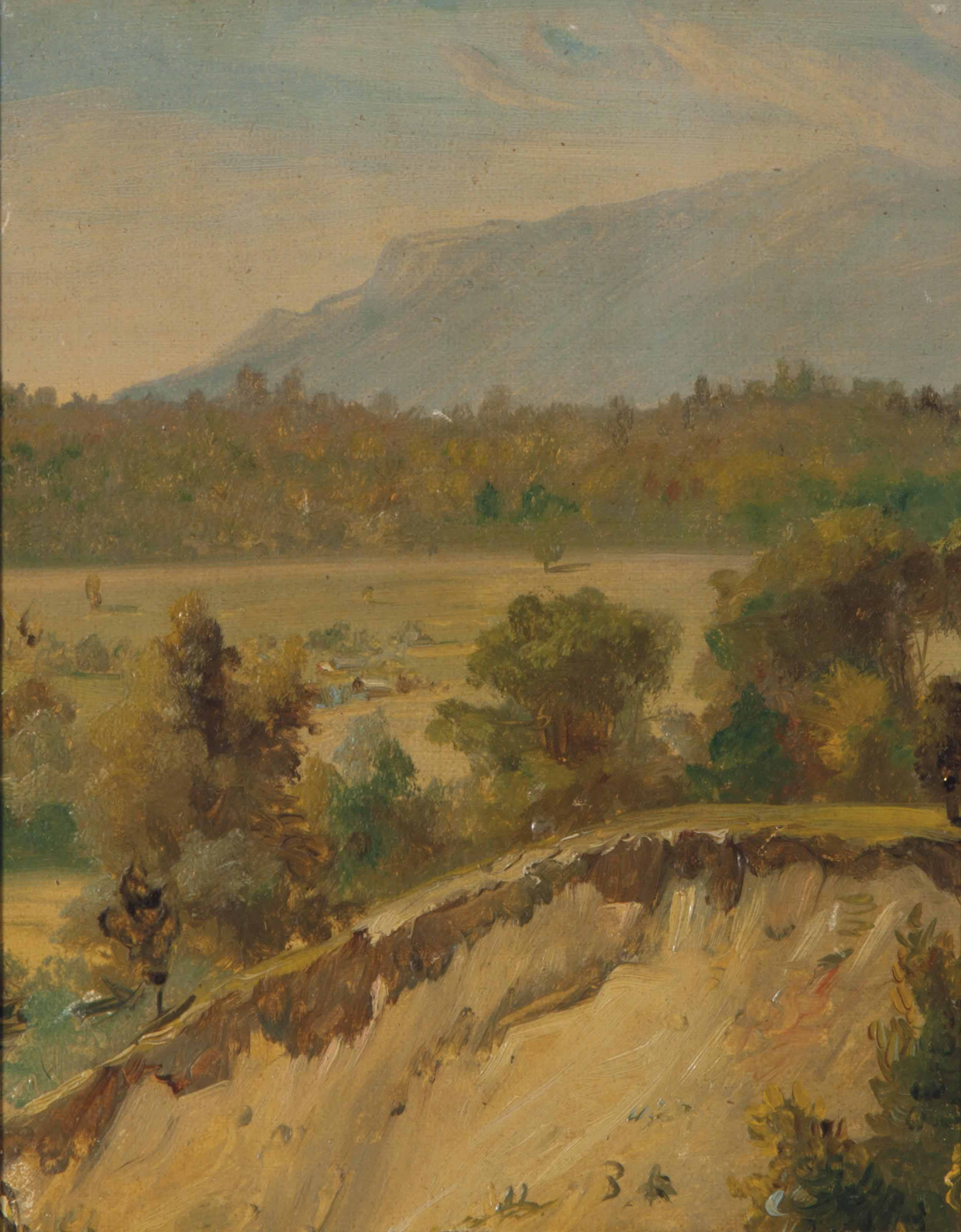 Landscape with sand pit; and a companion painting