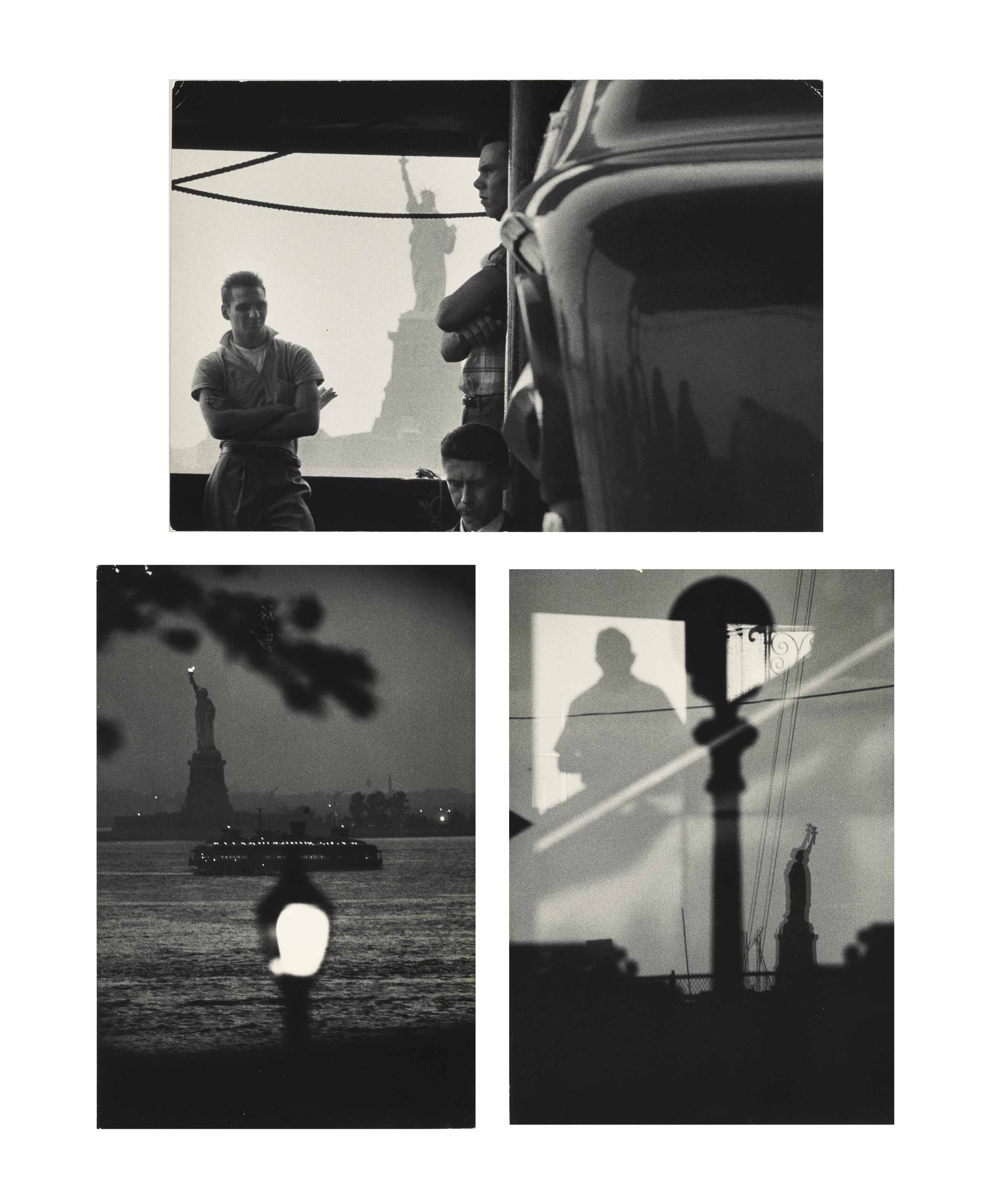 Views of the Statue of Liberty, New York, 1958