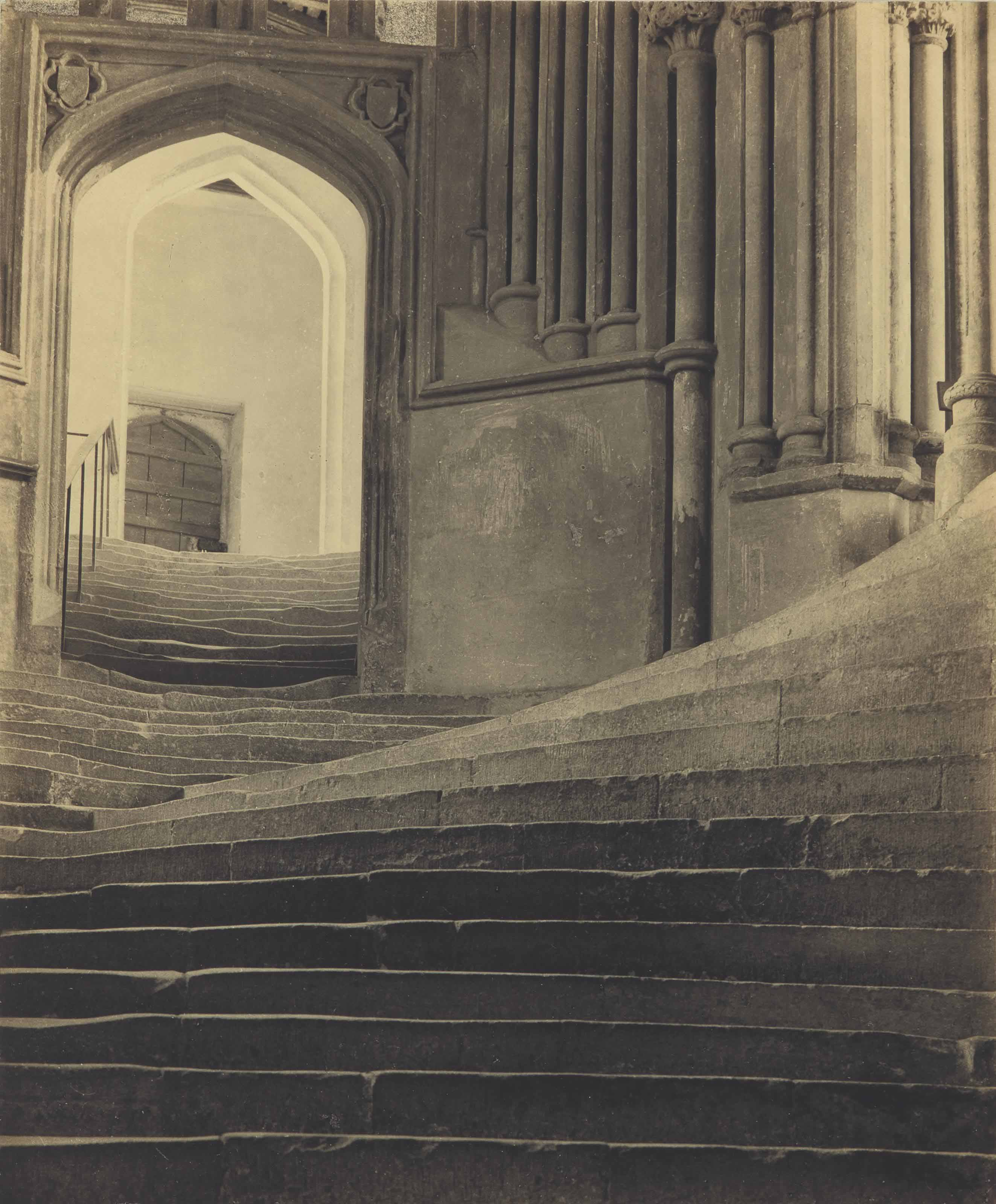'A Sea of Steps', Wells Cathedral, Steps to Chapter House, 1903