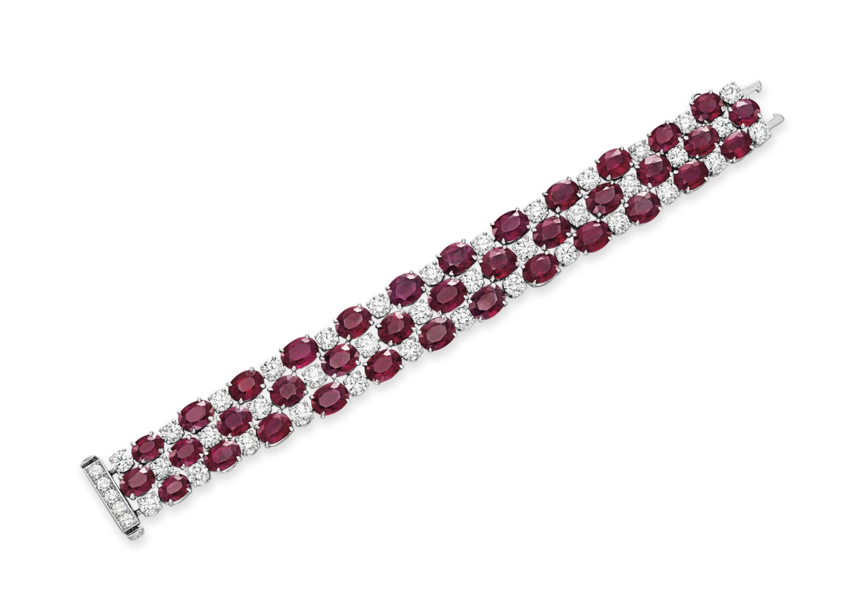 A RUBY AND DIAMOND BRACELET, BY CHOPARD