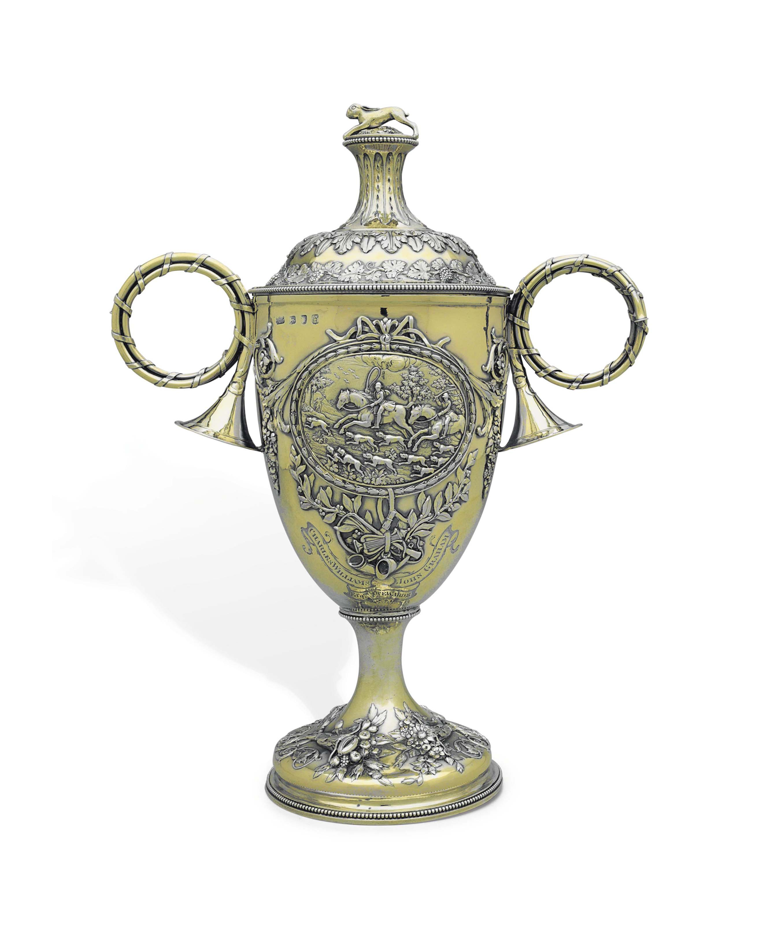 A GEORGE III SILVER-GILT TROPHY CUP