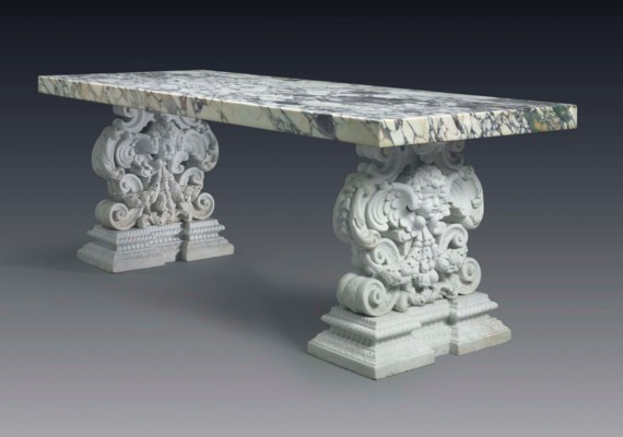 A PAIR OF AMERICAN PATINATED B