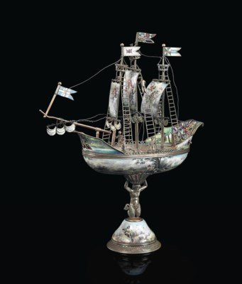 A VIENNESE SILVERED-METAL AND
