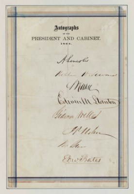 LINCOLN, Abraham. Signature (