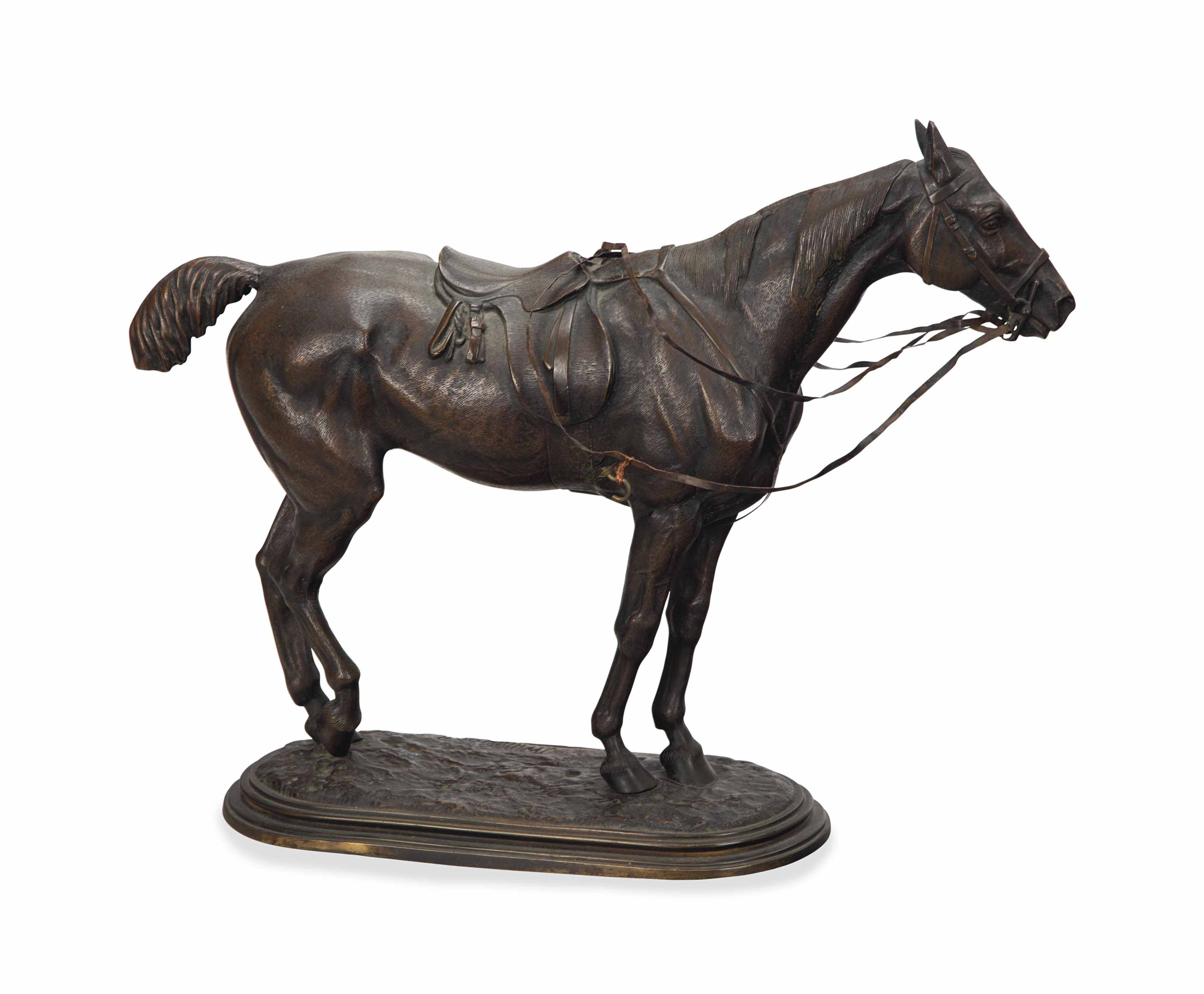 A PATINATED BRONZE FIGURE OF A HUNTER,