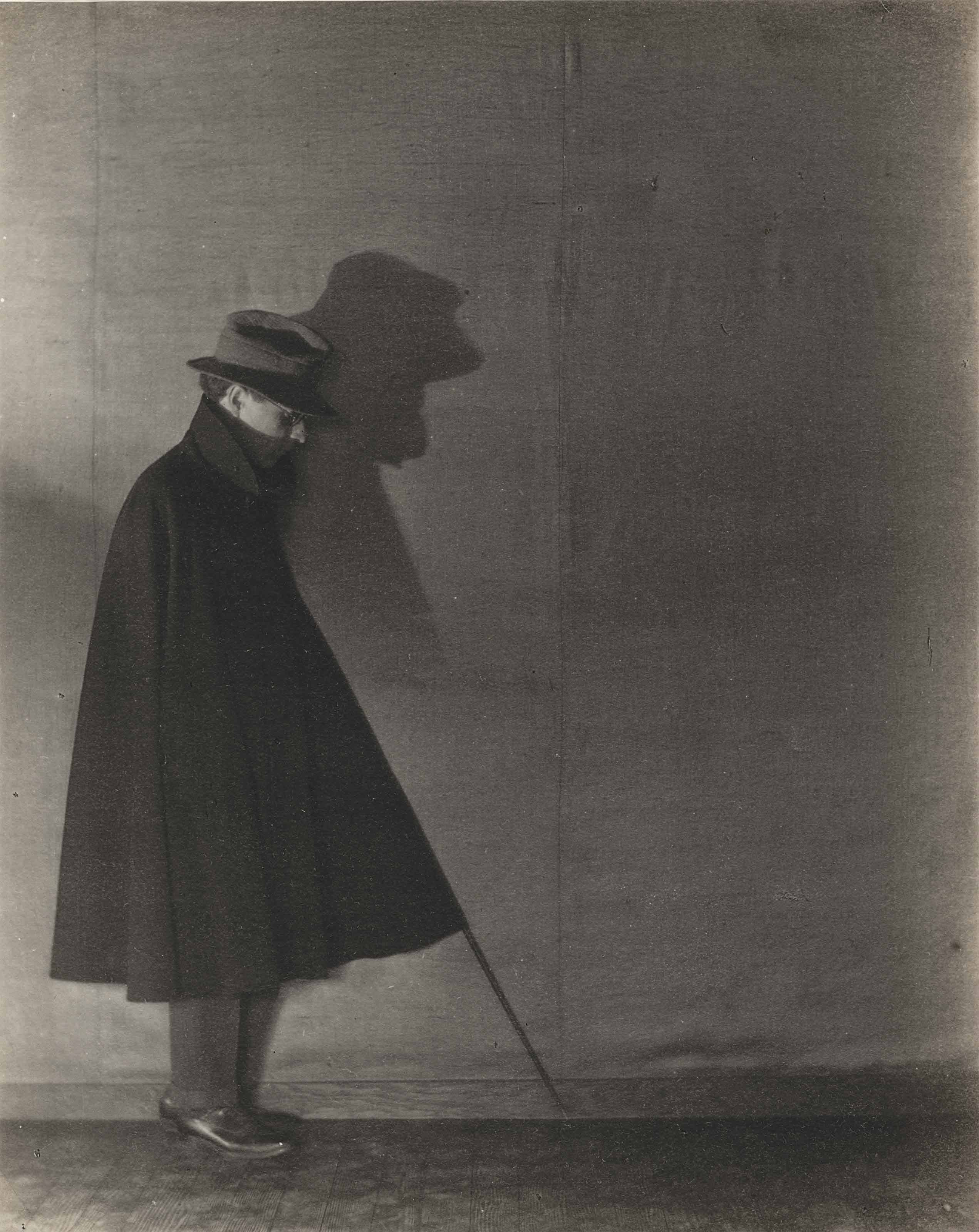 Edward Weston in Shadow, c. 1919-1920