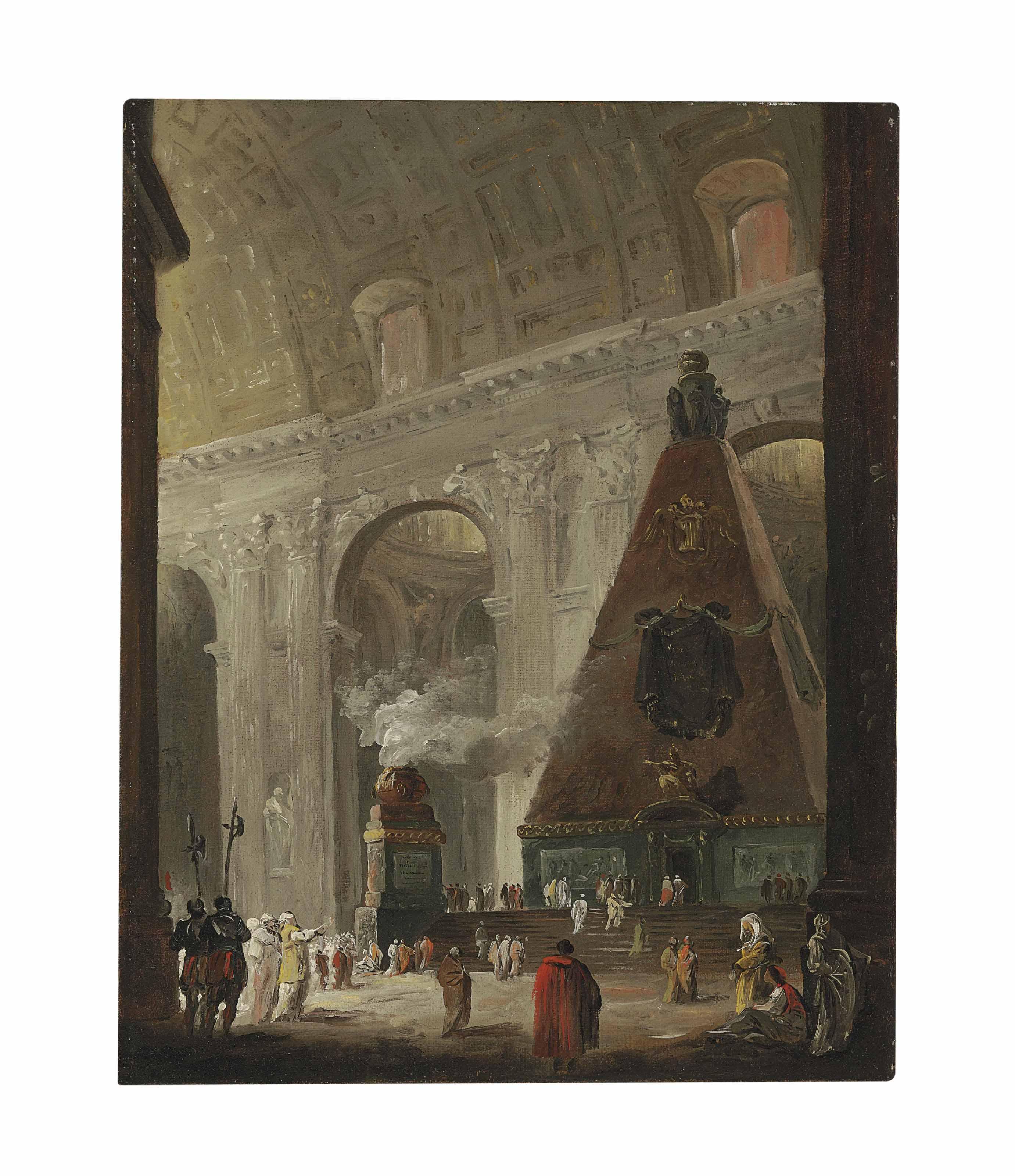 The catafalque of Pope Benedict XIV in Saint Peter's, Rome