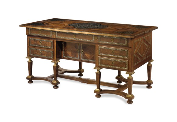 a louis xiv pewter inlaid kingwood ebony and marquetry. Black Bedroom Furniture Sets. Home Design Ideas