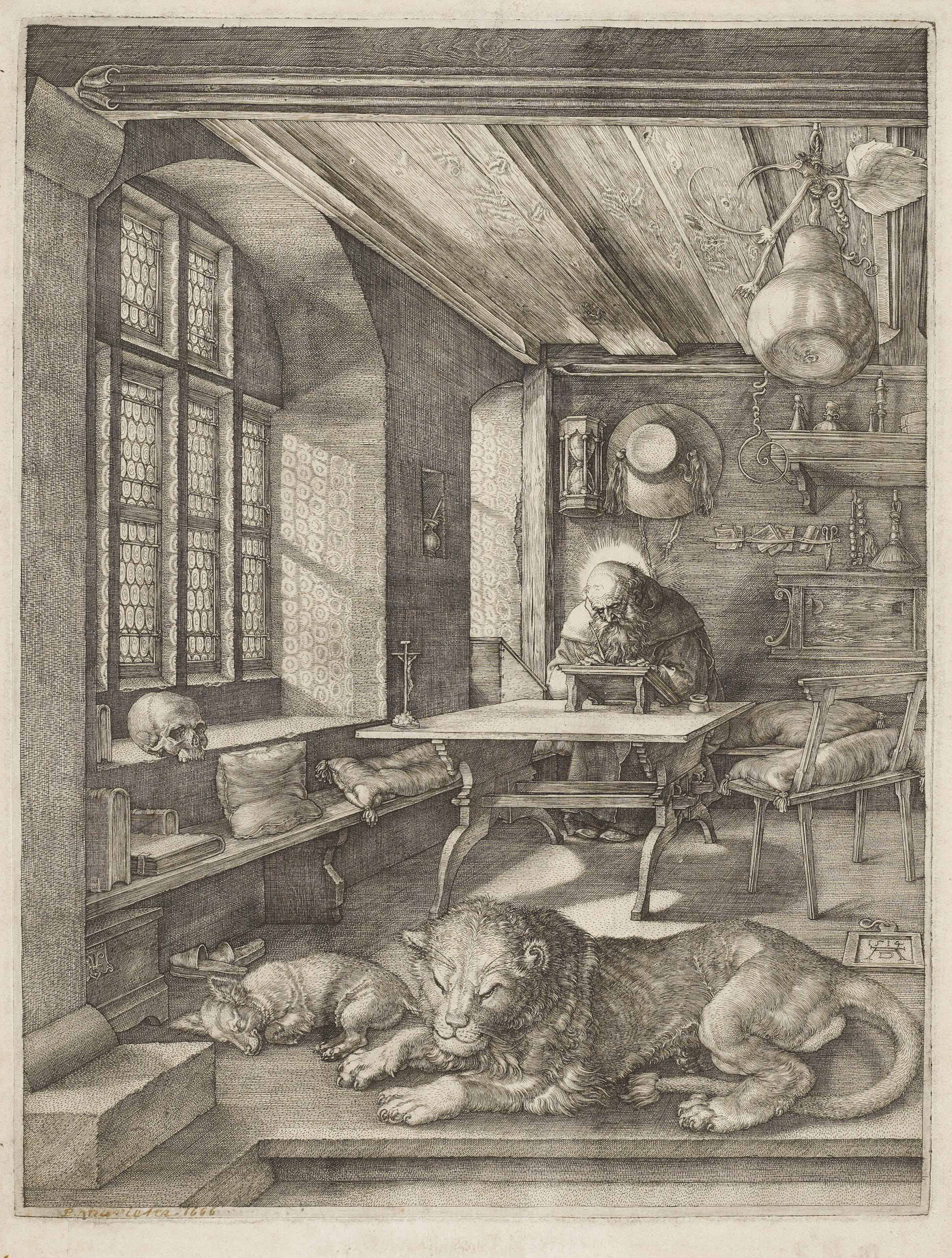 Saint Jerome in his Study (B. 60; M., Holl. 59; S.M.S. 70)