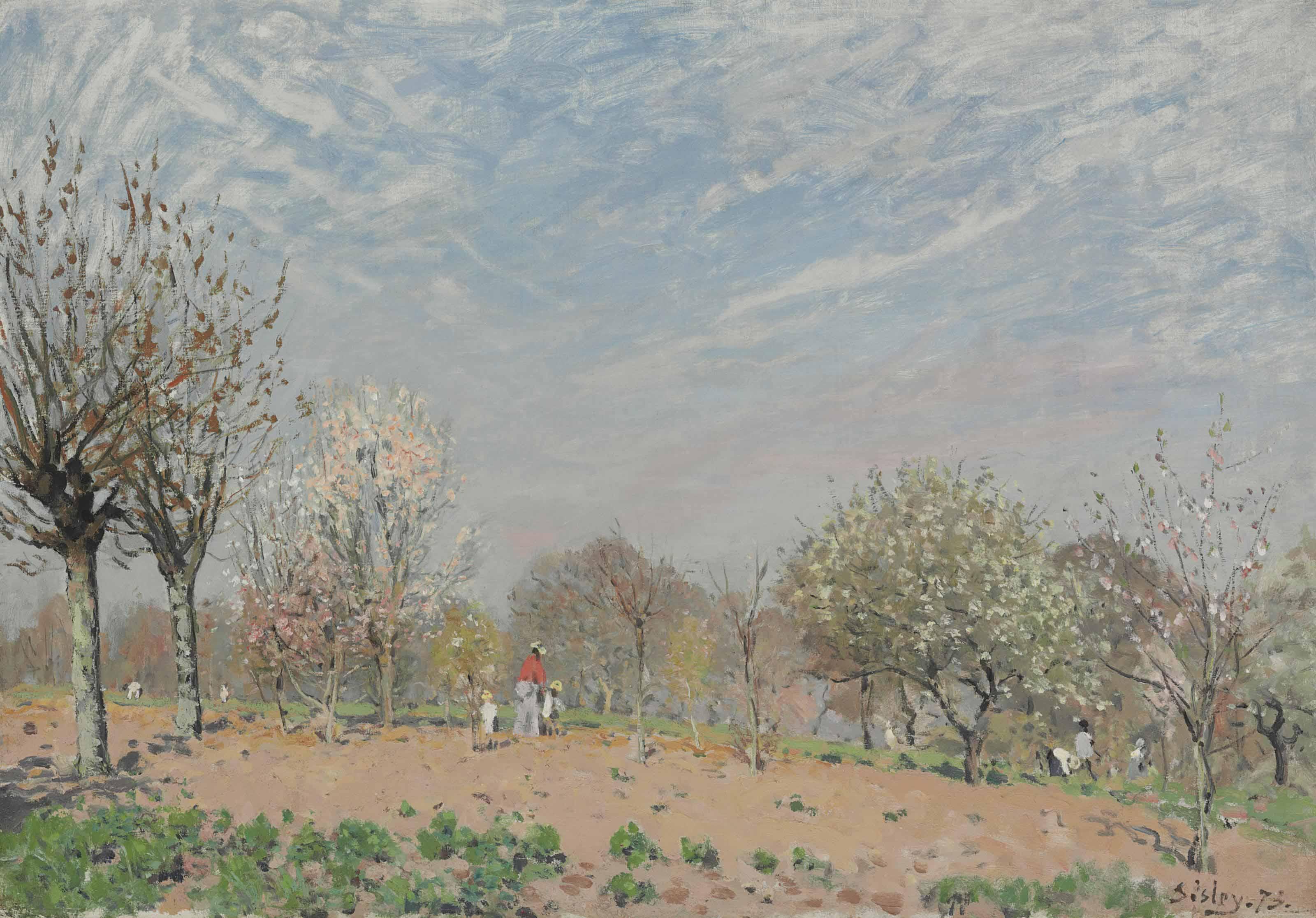 Pommiers en fleurs--Louveciennes