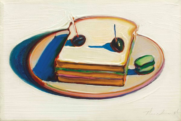 Wayne thiebaud b 1920 sandwich christie 39 s for Art and appetite american painting culture and cuisine