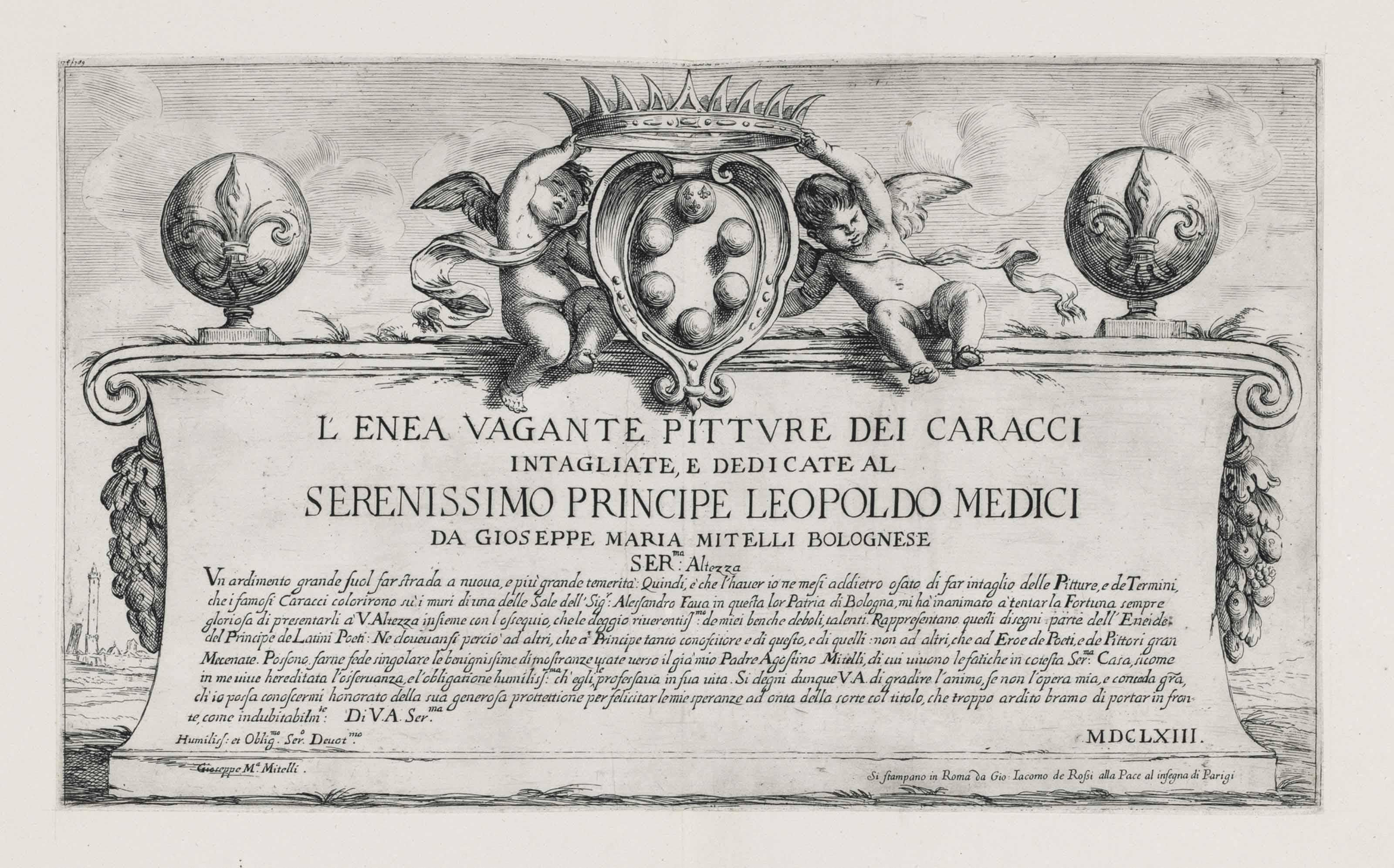 CARRACCI, Ludovico (1555 - 1619) and CARRACCI, Annibale (1560 - 1609) after, by Giuseppe Maria MITELLI (1634 - 1718)