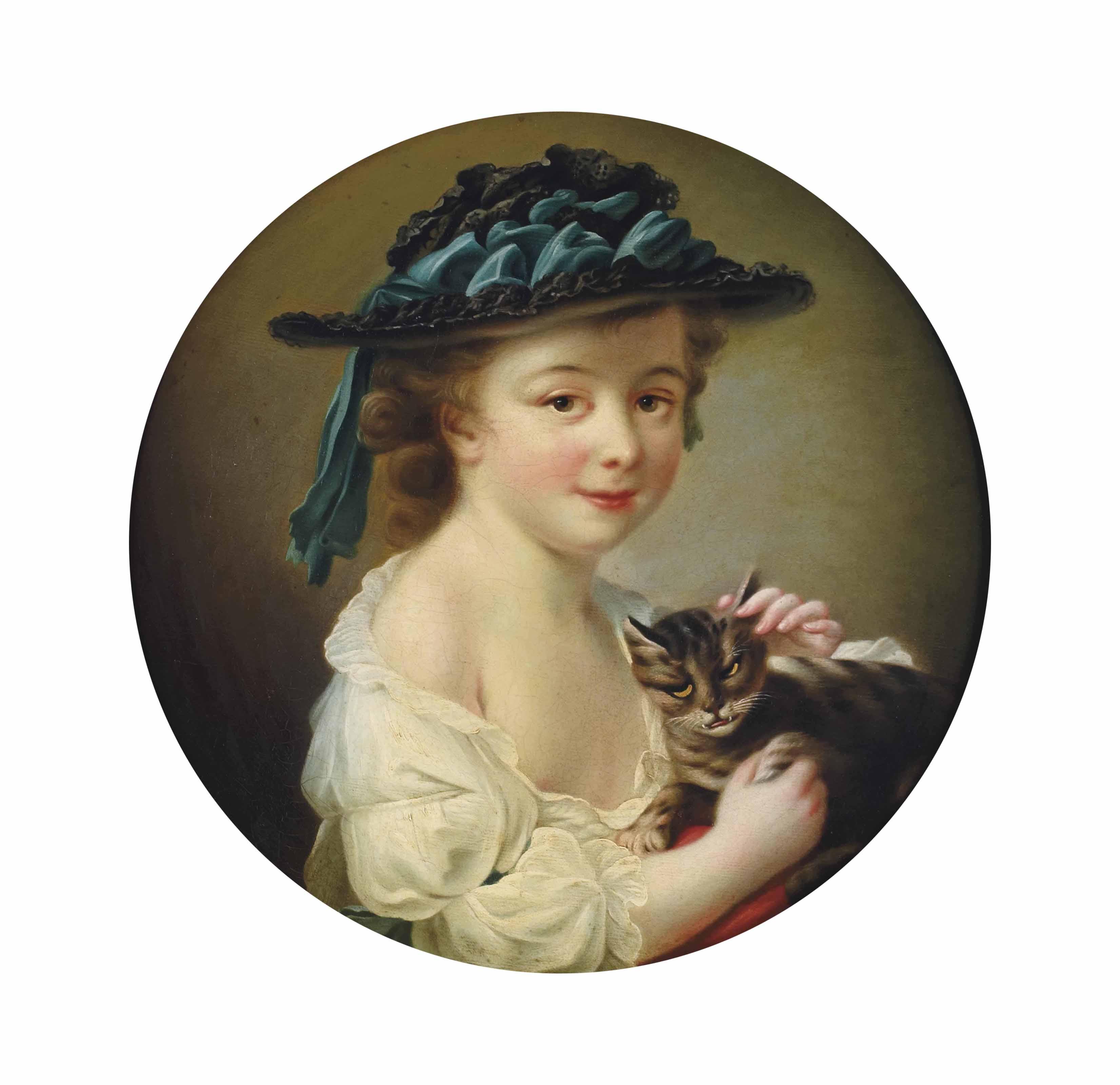 Portrait d'enfant avec un chat