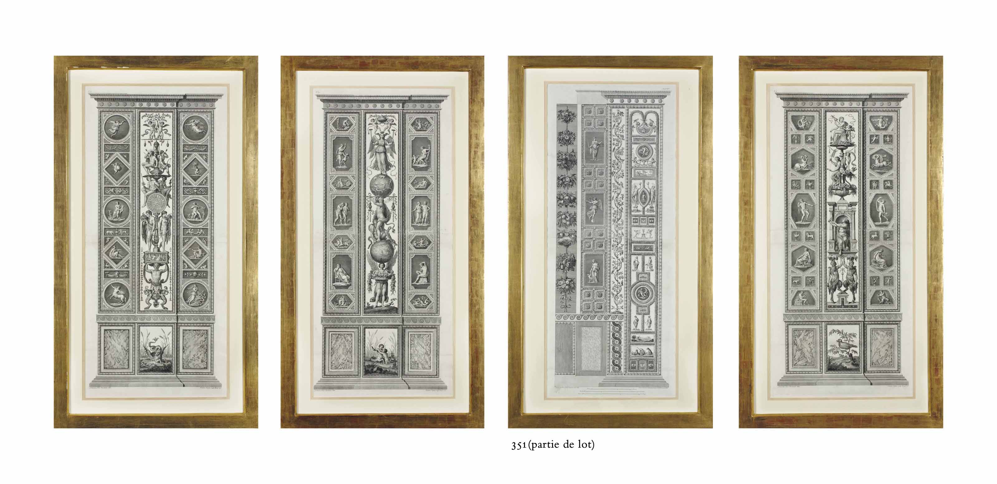 Les Pilastres des Loges du Vatican par Giovanni Volpato
