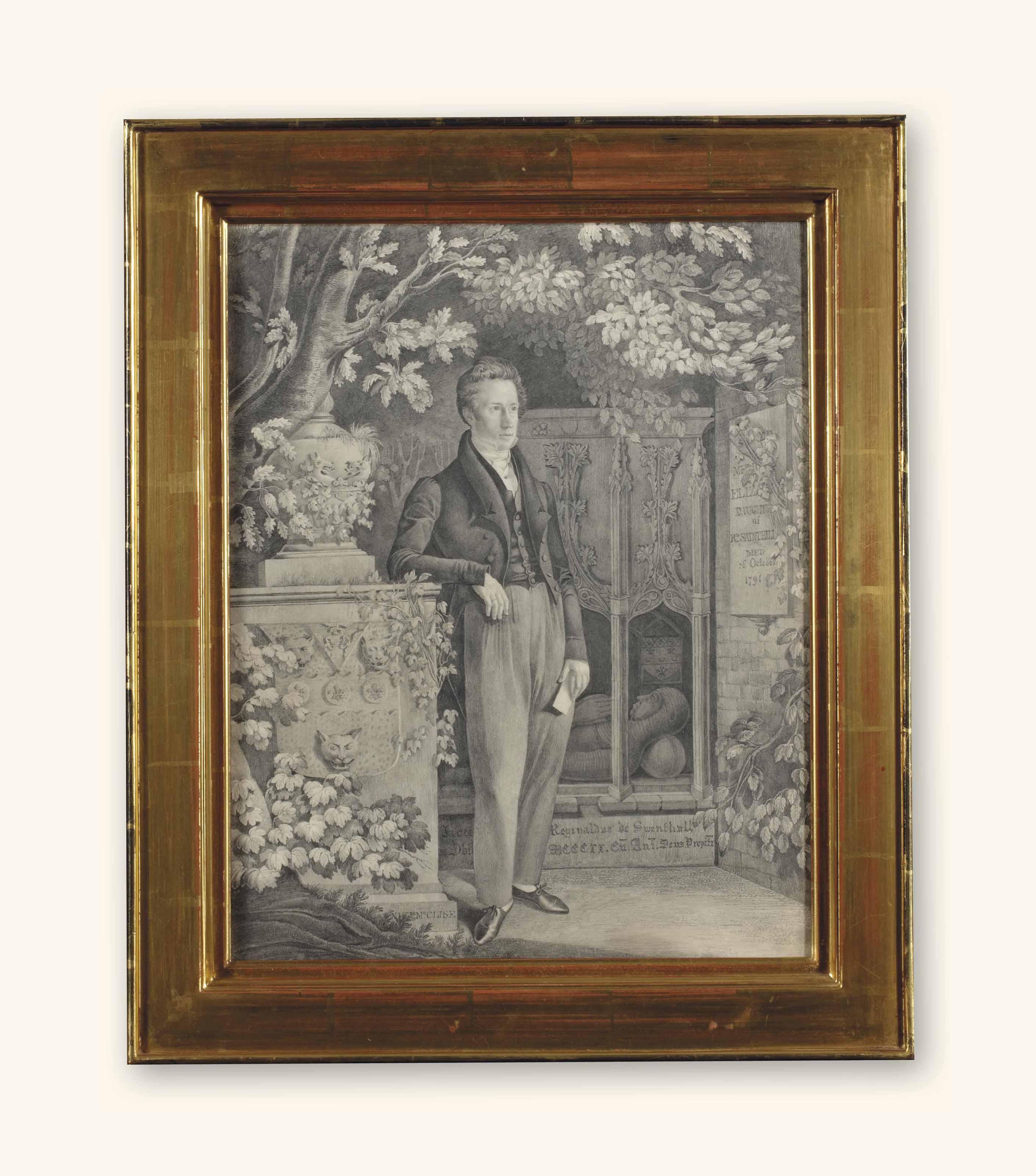 Richard Sandhill devant la tombe de Reginald de Swenthall