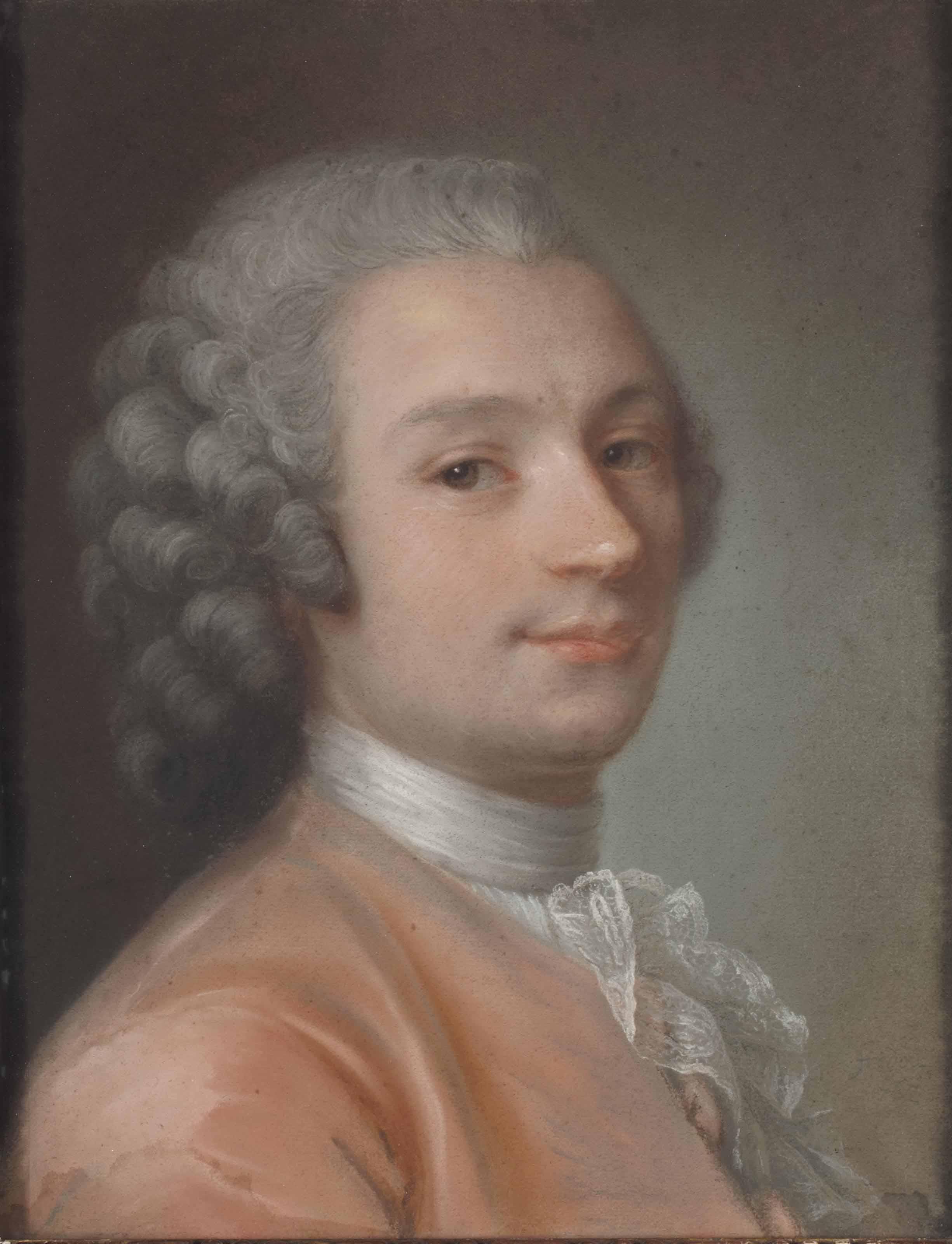 Portrait de monsieur de Foulon en habit rose