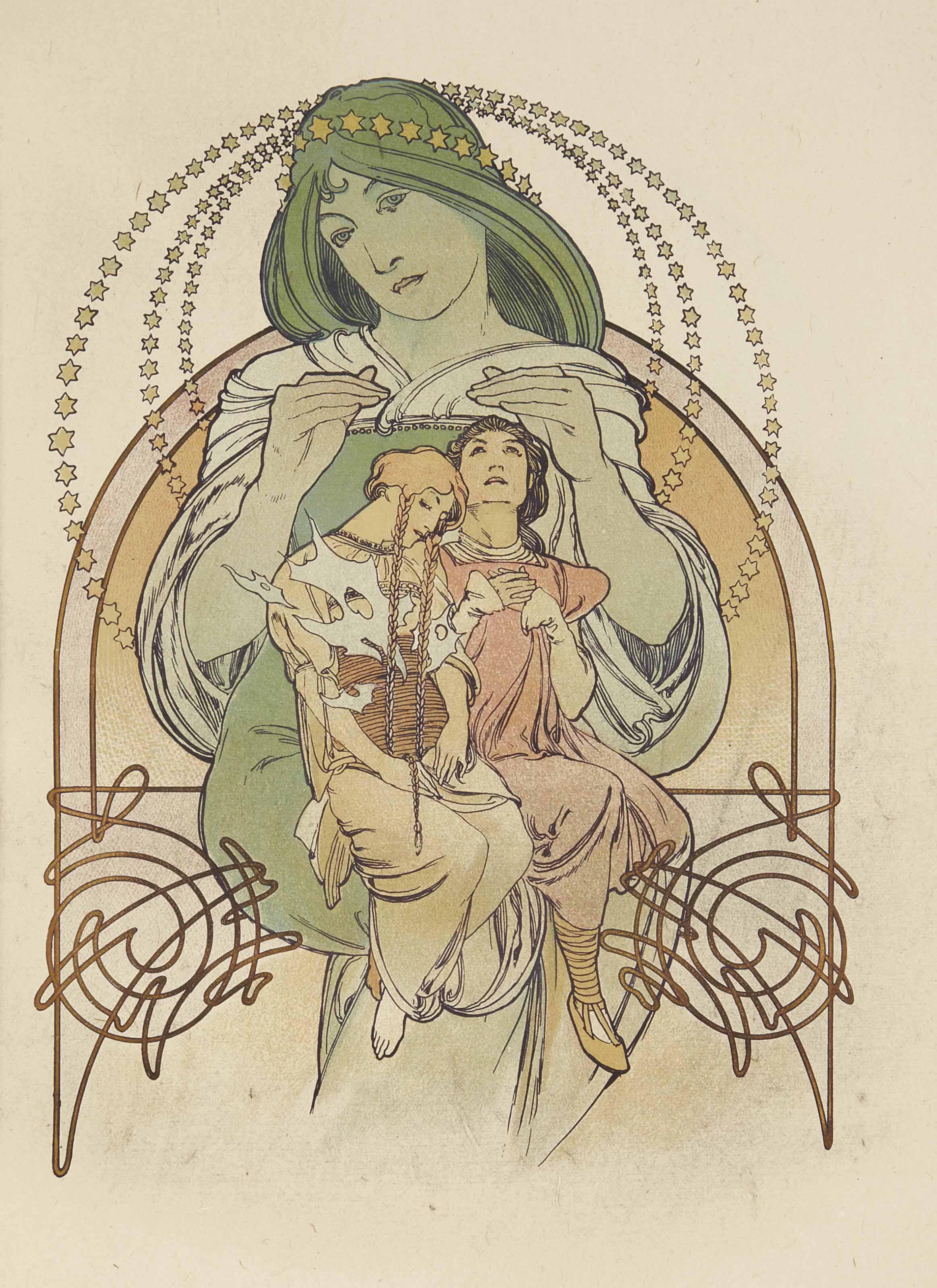 [MUCHA] -- FLERS, Robert de (1872-1927). Ilsée. Princesse de Tripoli. Paris: Piazza, 1897.