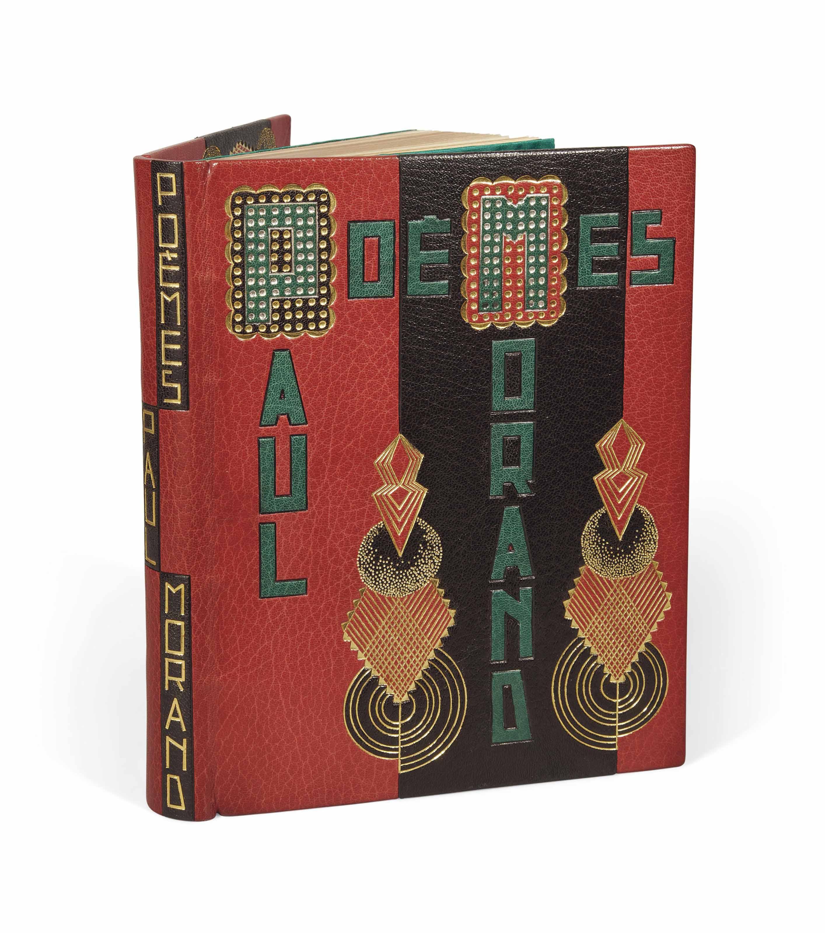 [GAUDION] -- MORAND, Paul (1888-1976). Poèmes (1914-1924). Toulouse: éditions Richard, 15 novembre 1926.