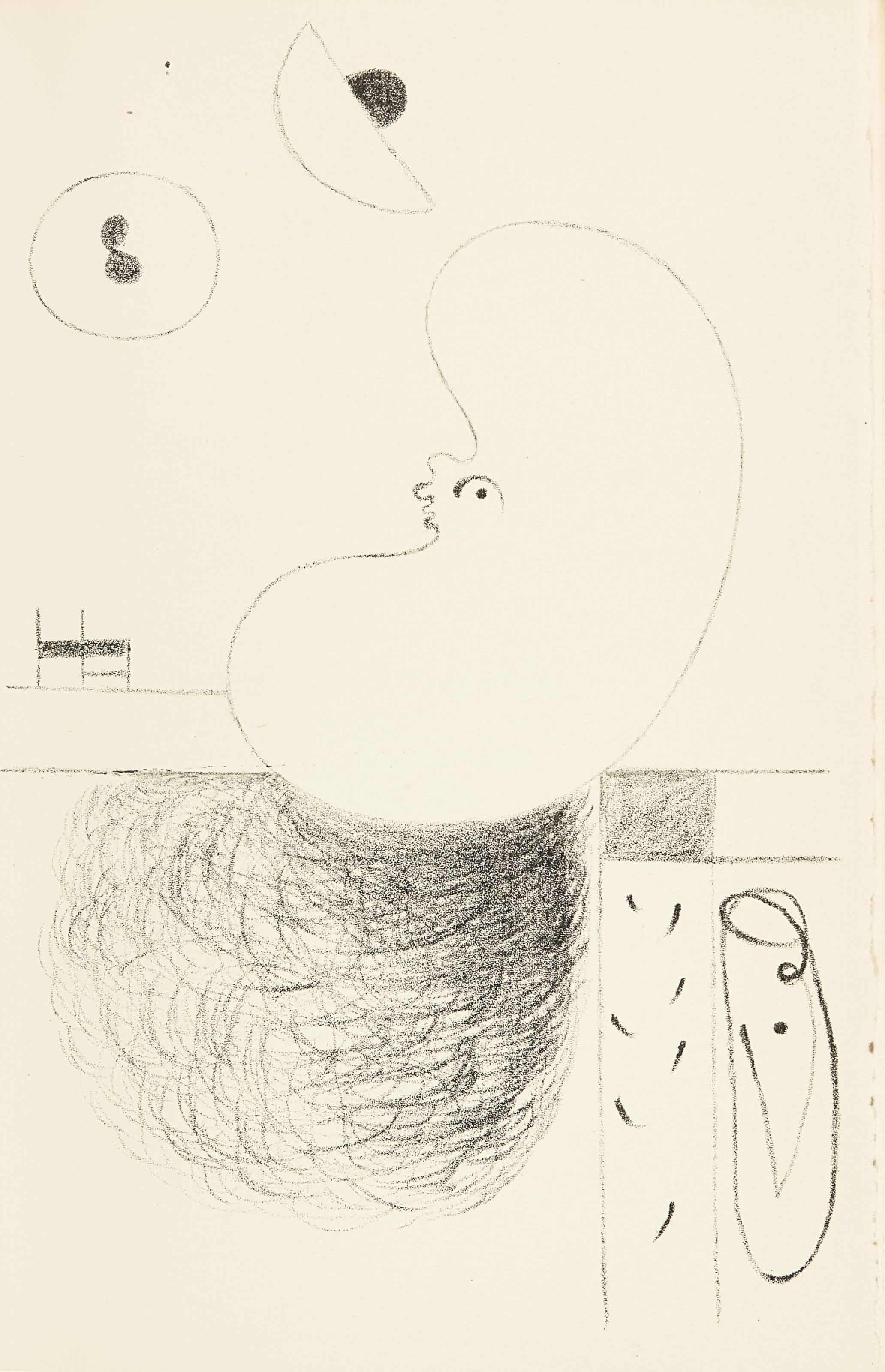 [MIRÓ] -- TZARA, Tristan (1896-1963). L'Arbre des voyageurs. Orné de quatre lithographies de Joan Miró. Paris: Éditions de la Montagne, 1930.