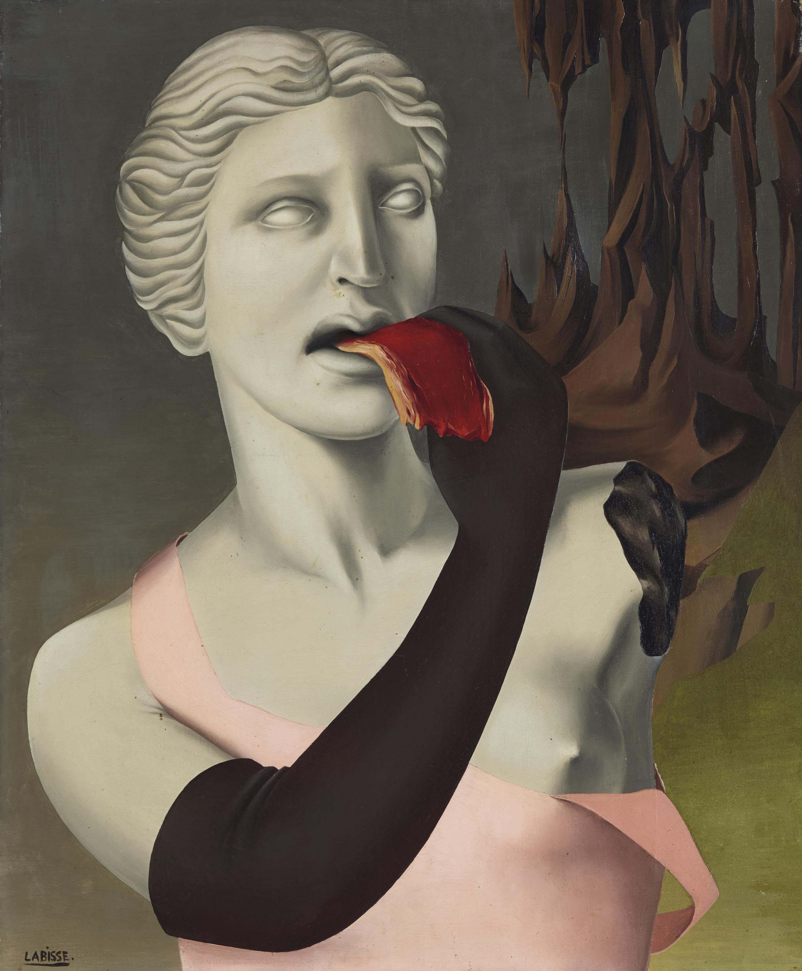 Monument aux atrides (La Vénus de Milo mangeant de la viande)