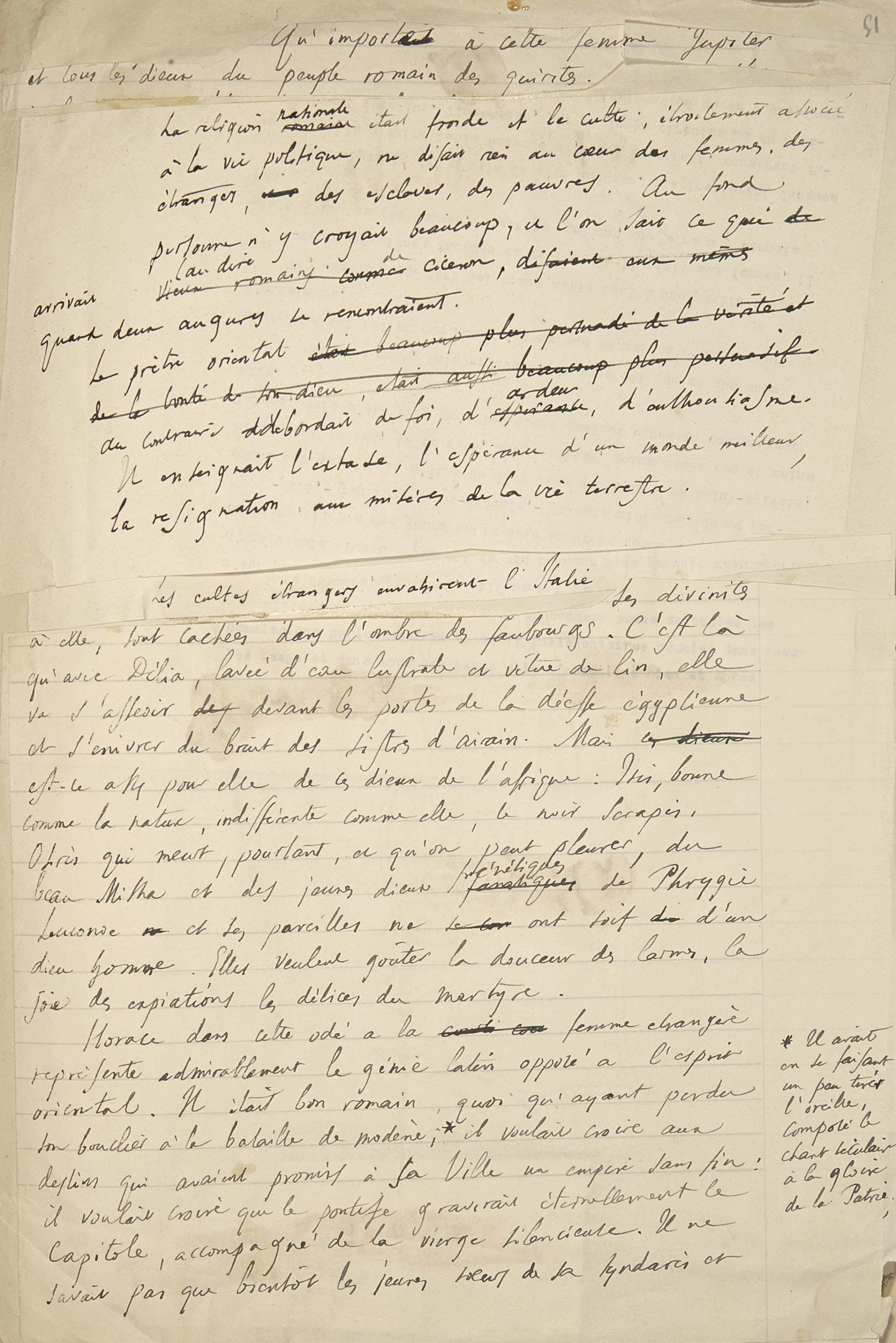FRANCE, Anatole (1844-1924). Conférences en Argentine et au Brésil. Manuscrit autographe, non signé. Vers 1909.