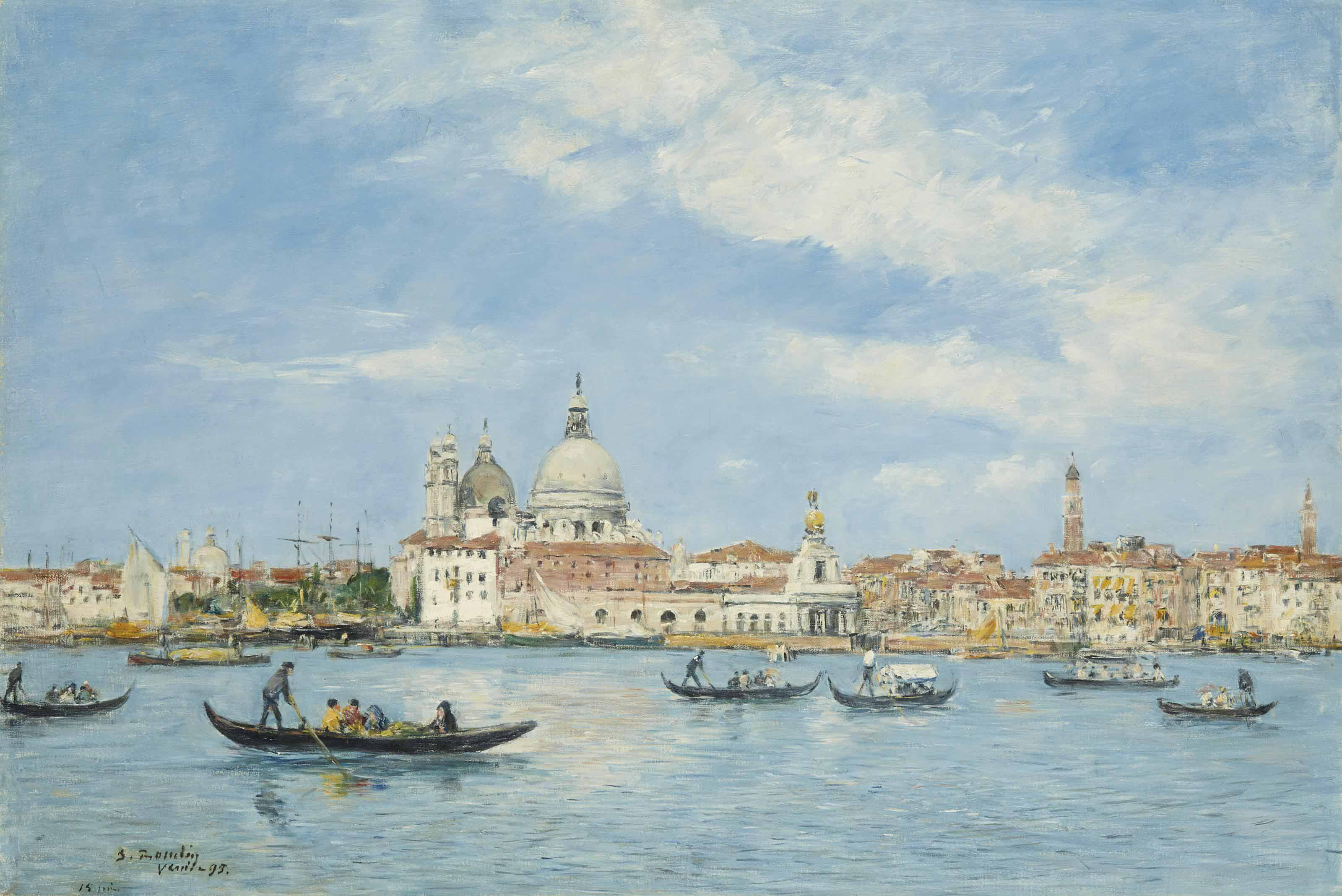 Venise. L'entrée du Grand Canal, la Salute et la Douane