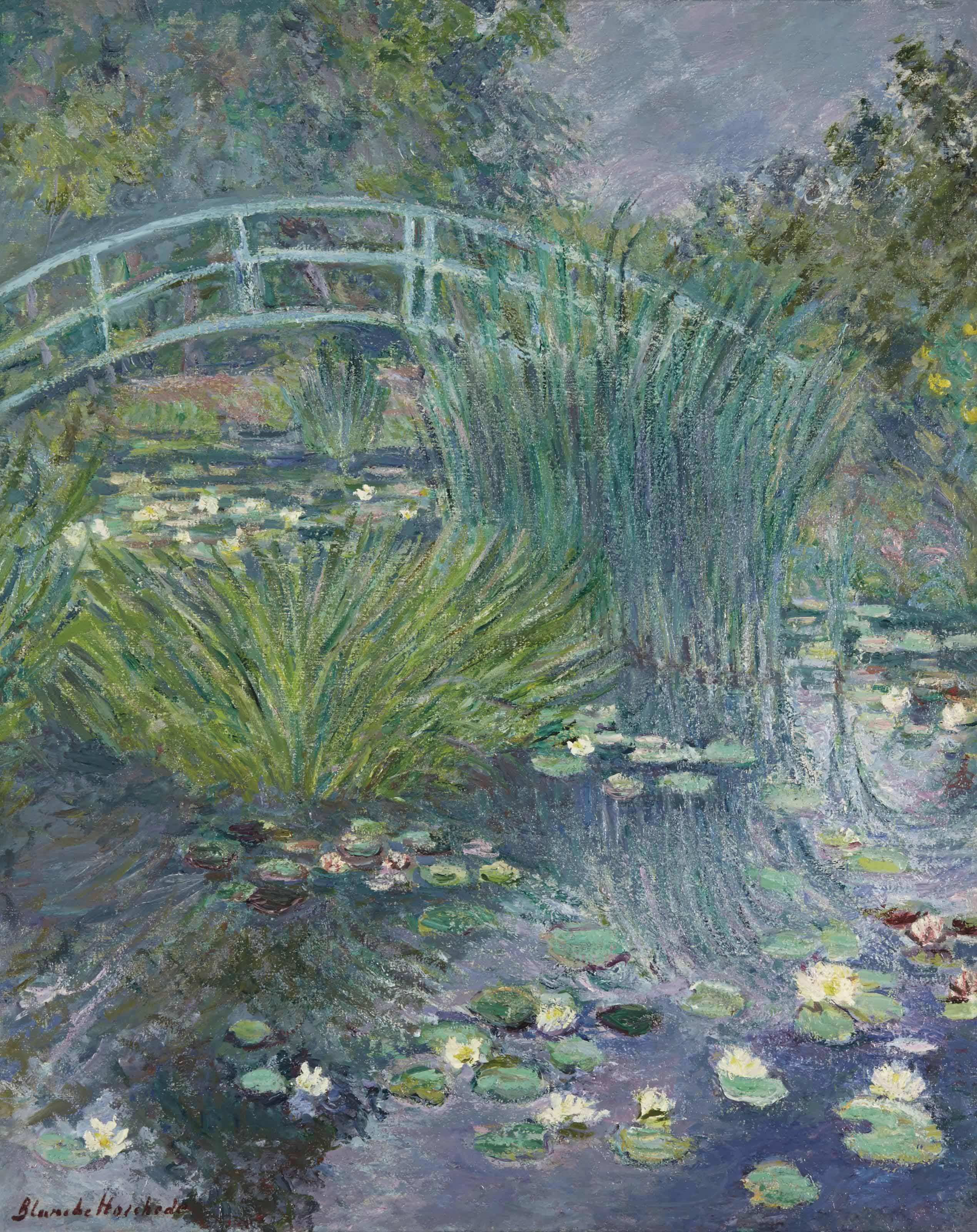Passerelle sur l'étang aux nymphéas (Giverny)
