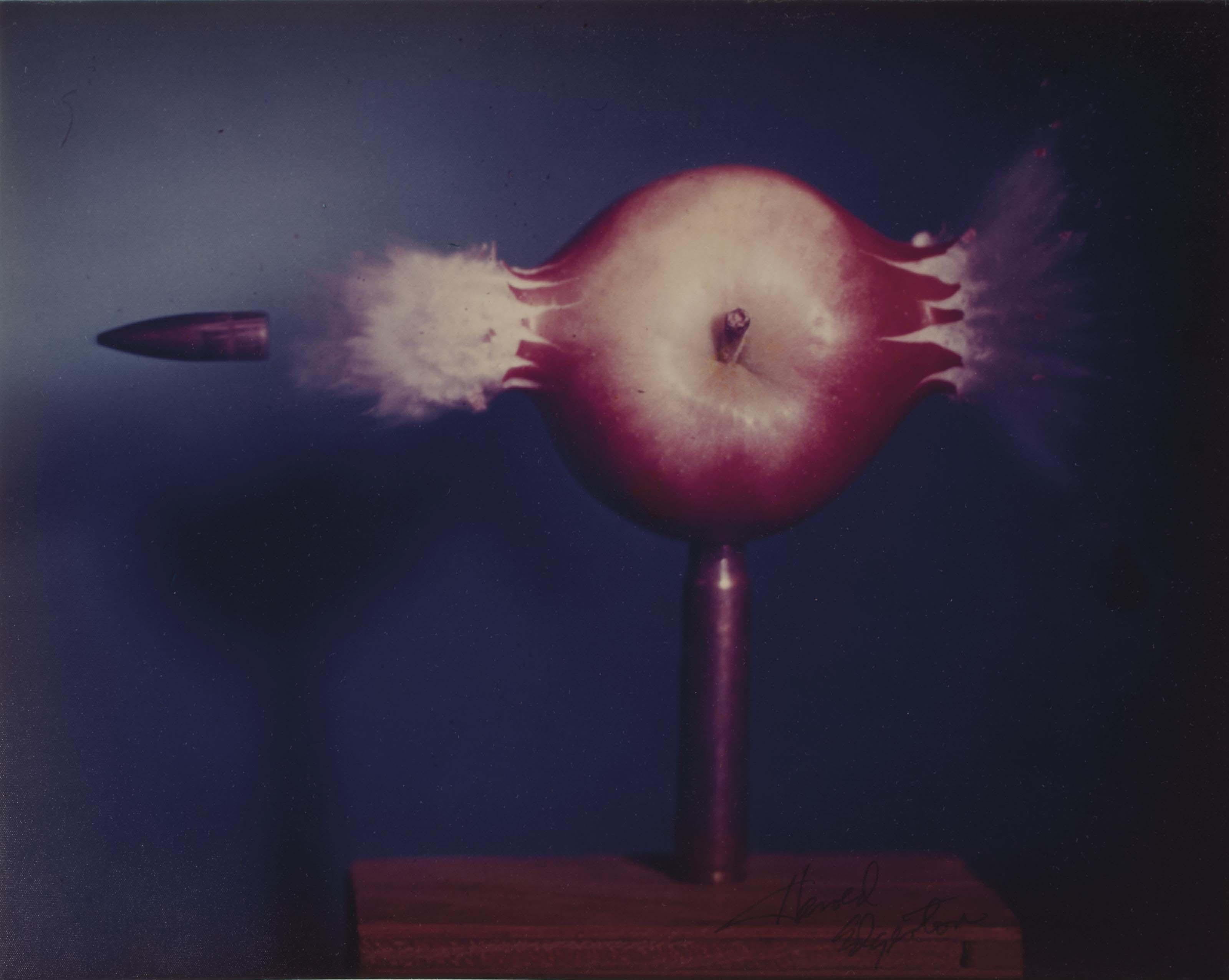 Bullet piercing an apple, 1964
