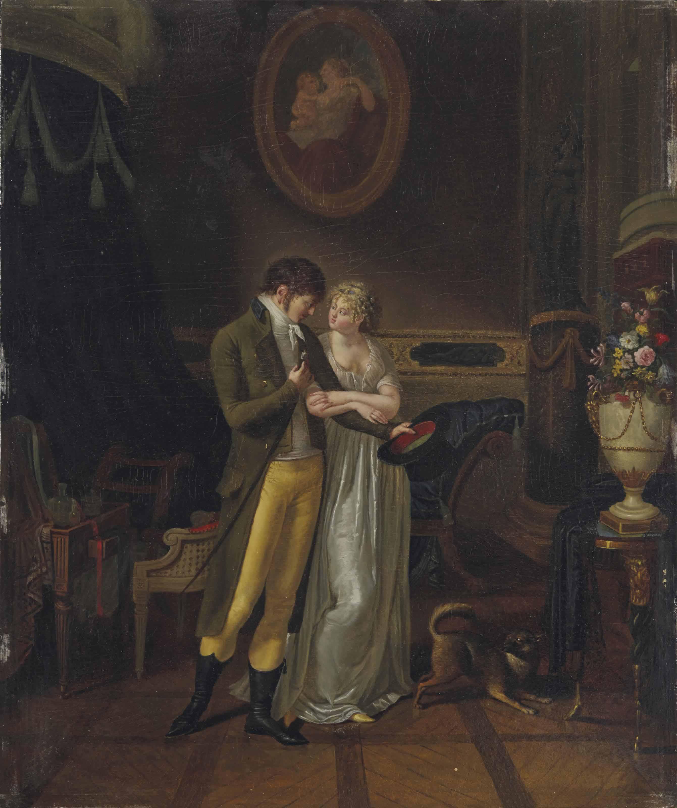 Couple dans un intérieur, l'Adieu